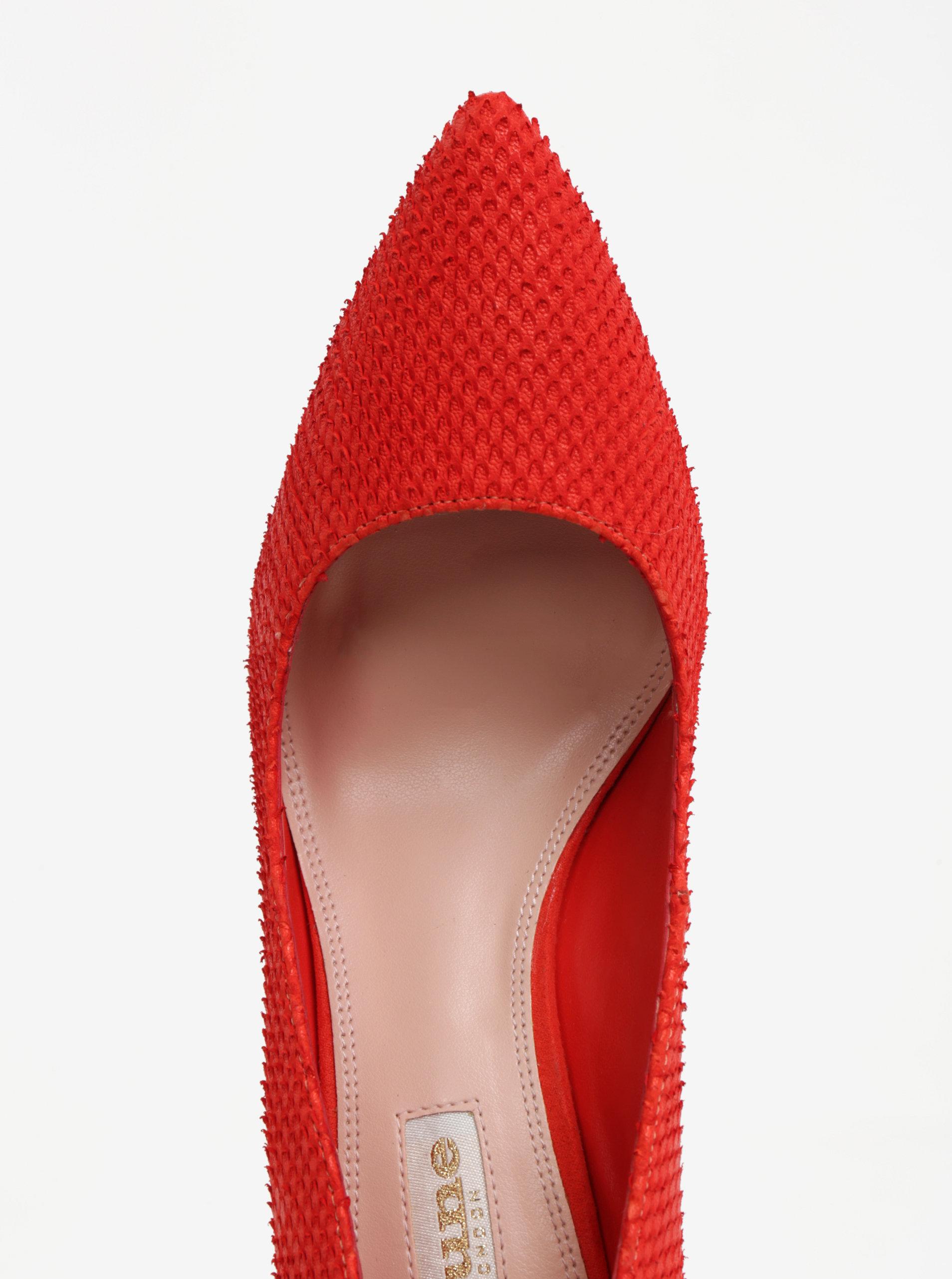 Červené kožené lodičky Dune London Aurrora ... 19677c251a