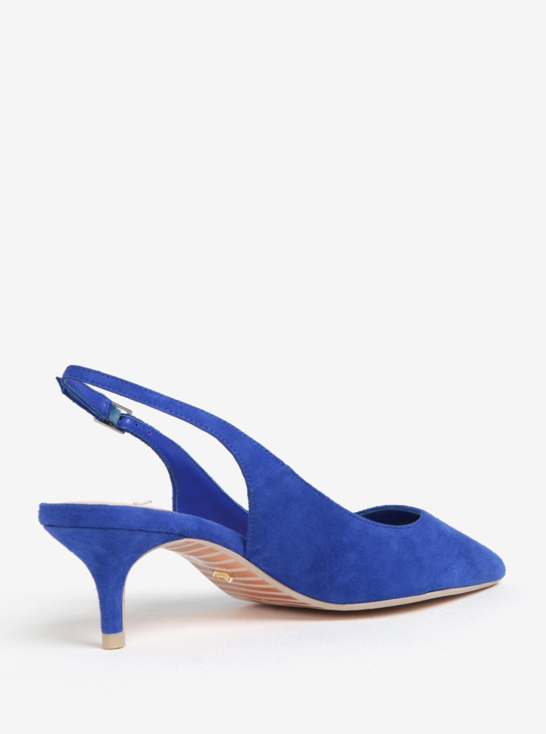 Modré semišové lodičky s otvorenou pätou Dune London Casandra ... 135e76ec6d