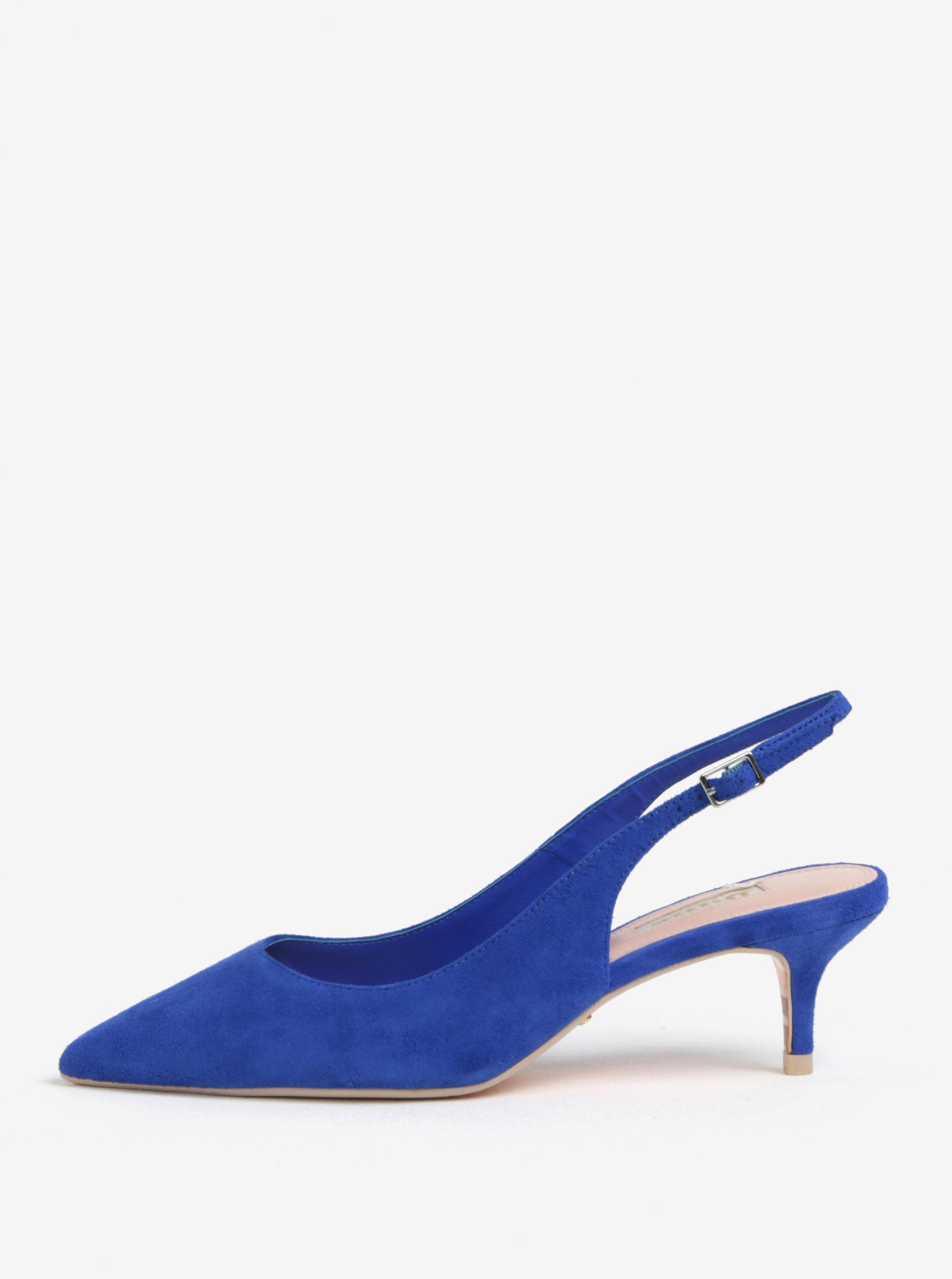 Modré semišové sandálky s otevřenou patou Dune London Casandra ... 4d91c295f2