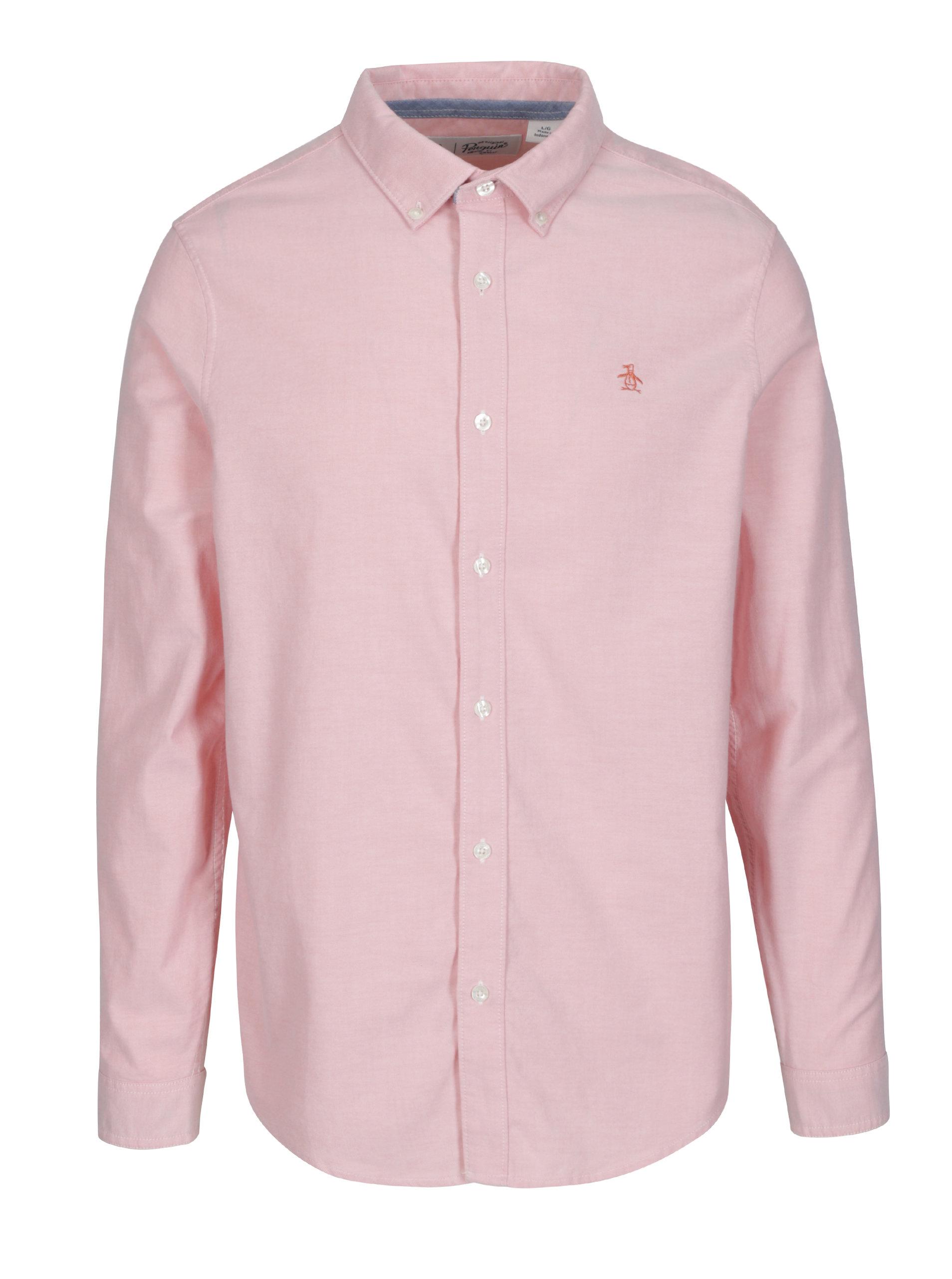 573231069f8 Růžová košile s dlouhým rukávem Original Penguin Oxford ...