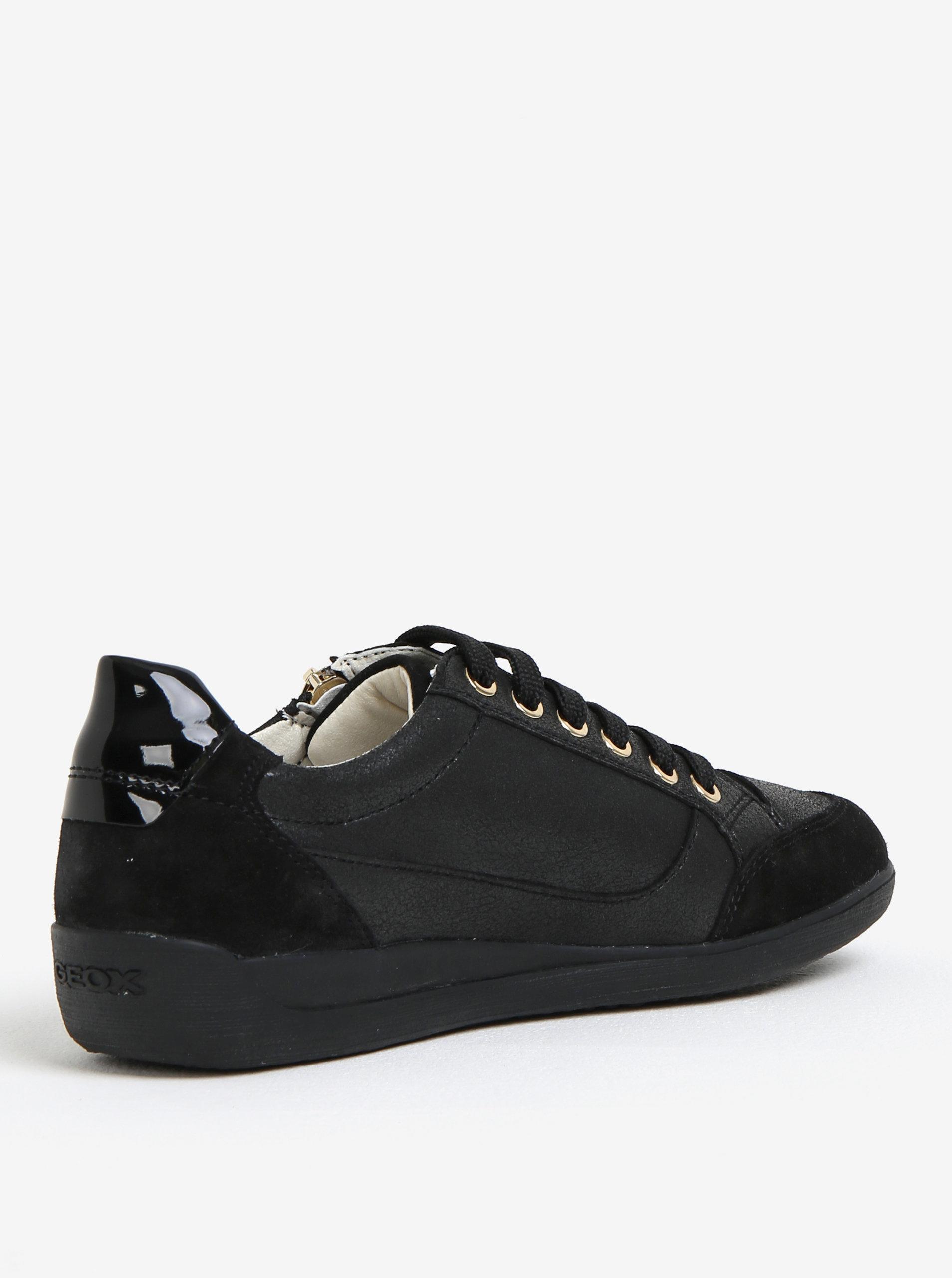 61614710e1 Čierne dámske kožené tenisky Geox Myria ...