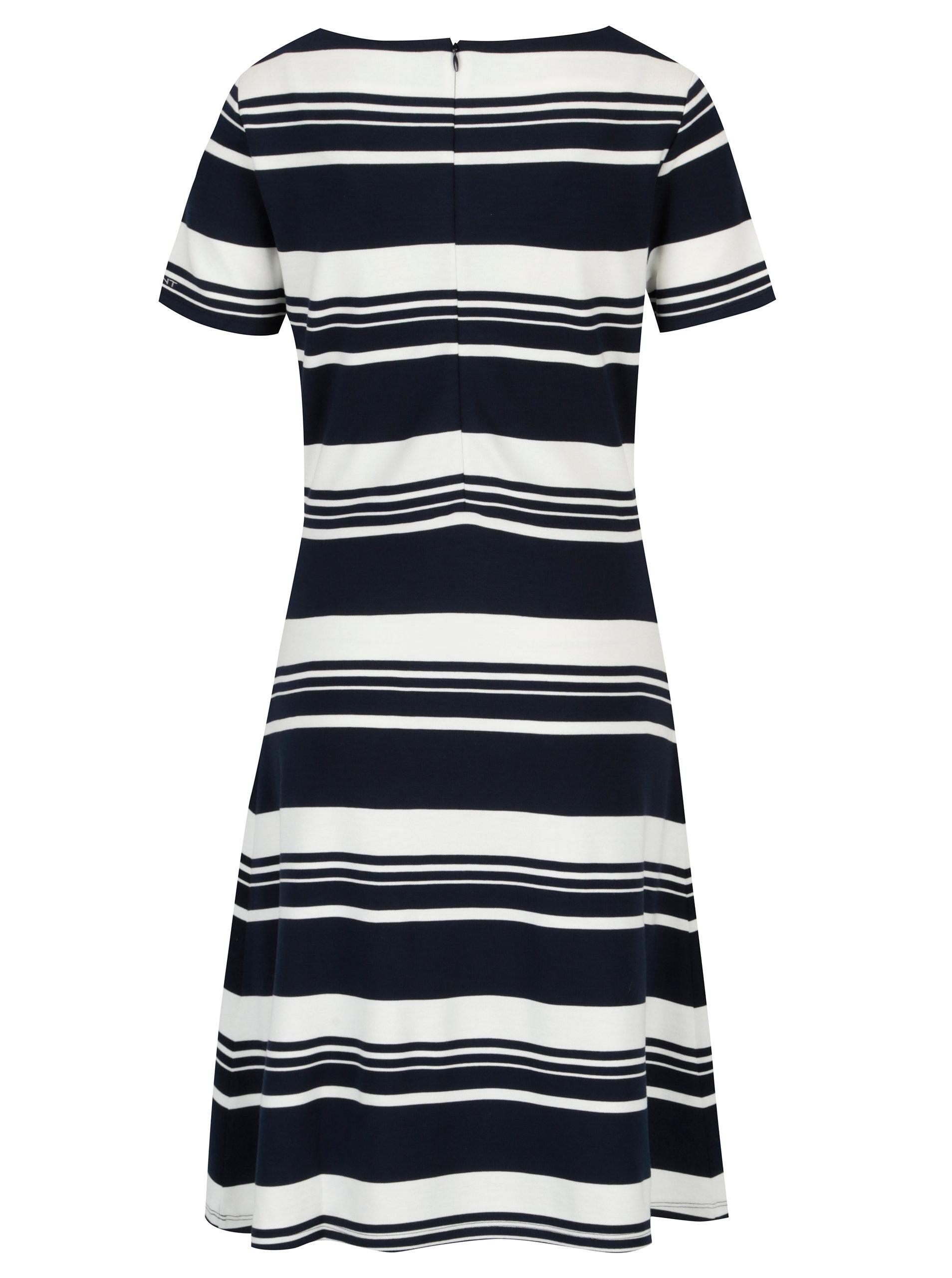 96eabc45e024 Modro-biele pruhované šaty s krátkym rukávom GANT ...