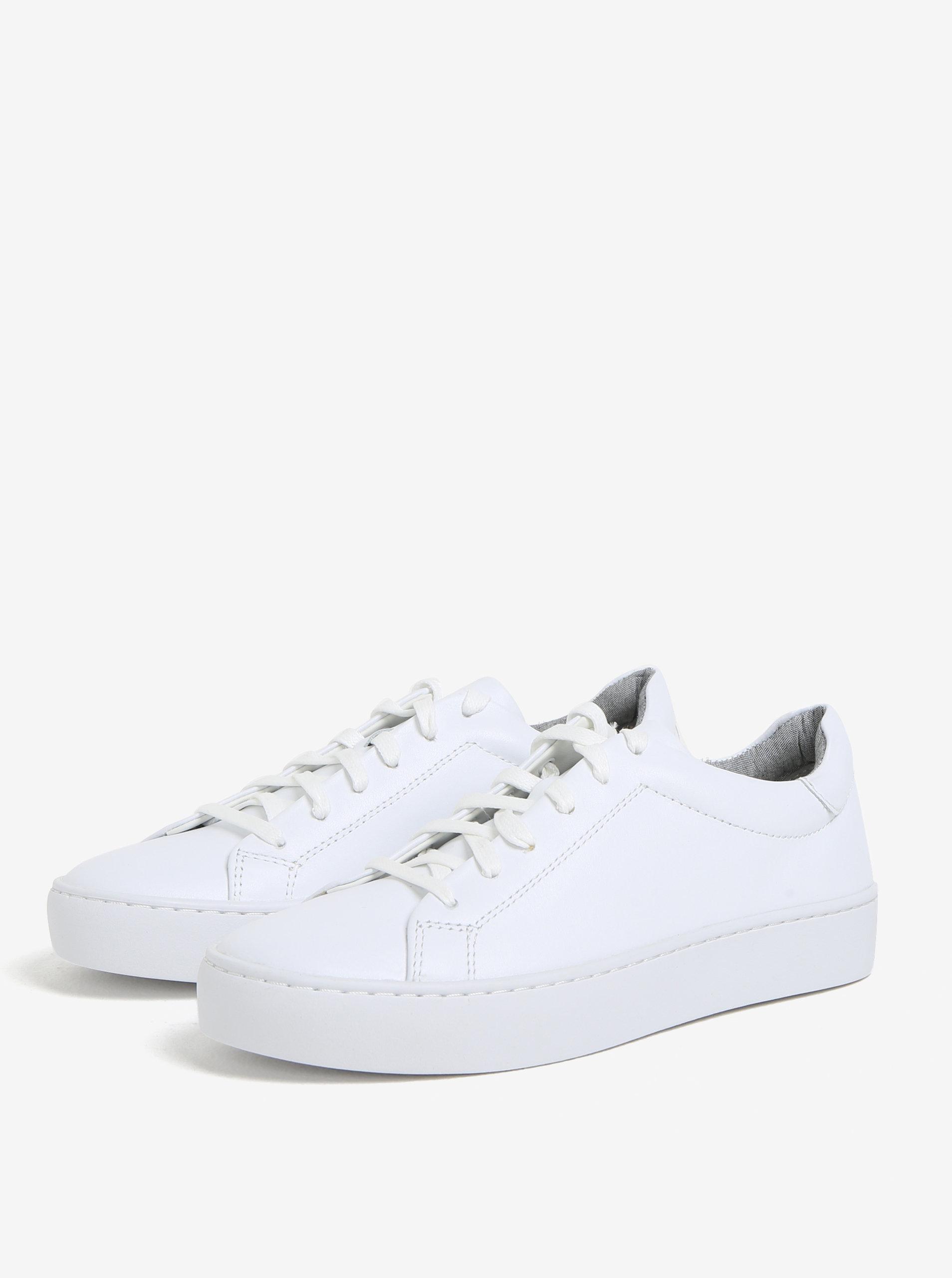 Biele dámske kožené tenisky na platforme Vagabond Zoe ... 1ec8e6a2947
