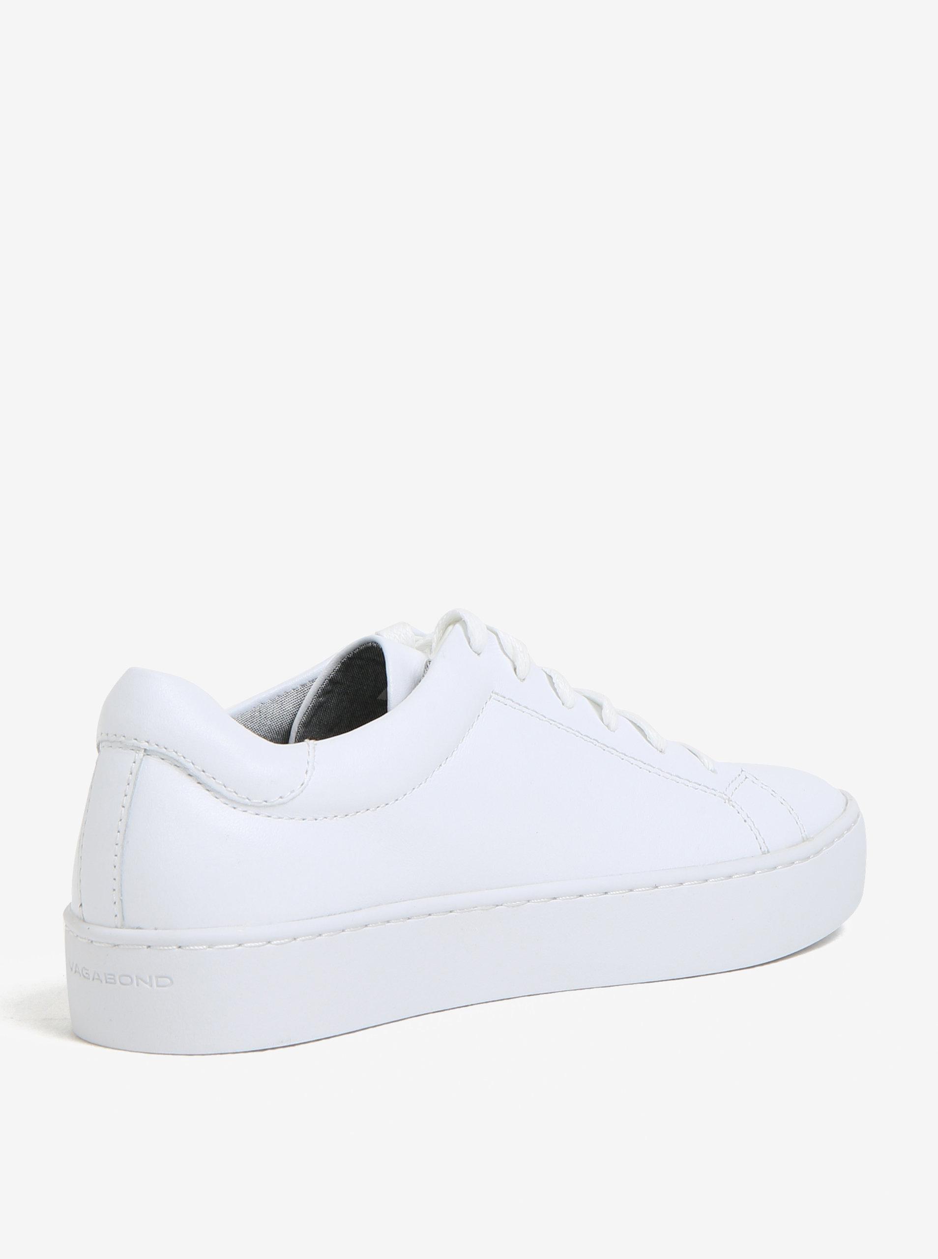 0d07309df66 Biele dámske kožené tenisky na platforme Vagabond Zoe ...