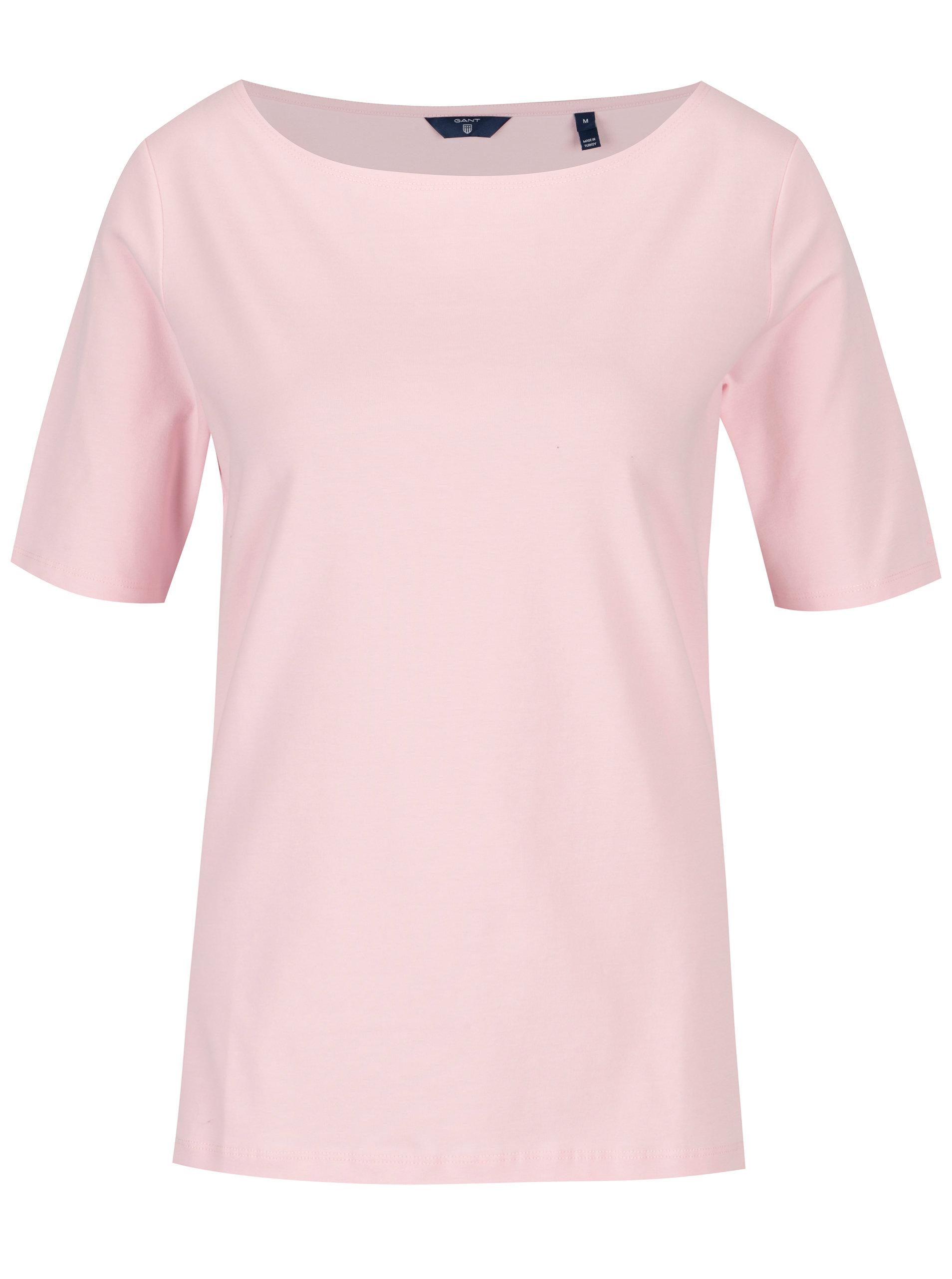7f7db0d989b Světle růžové dámské tričko GANT ...