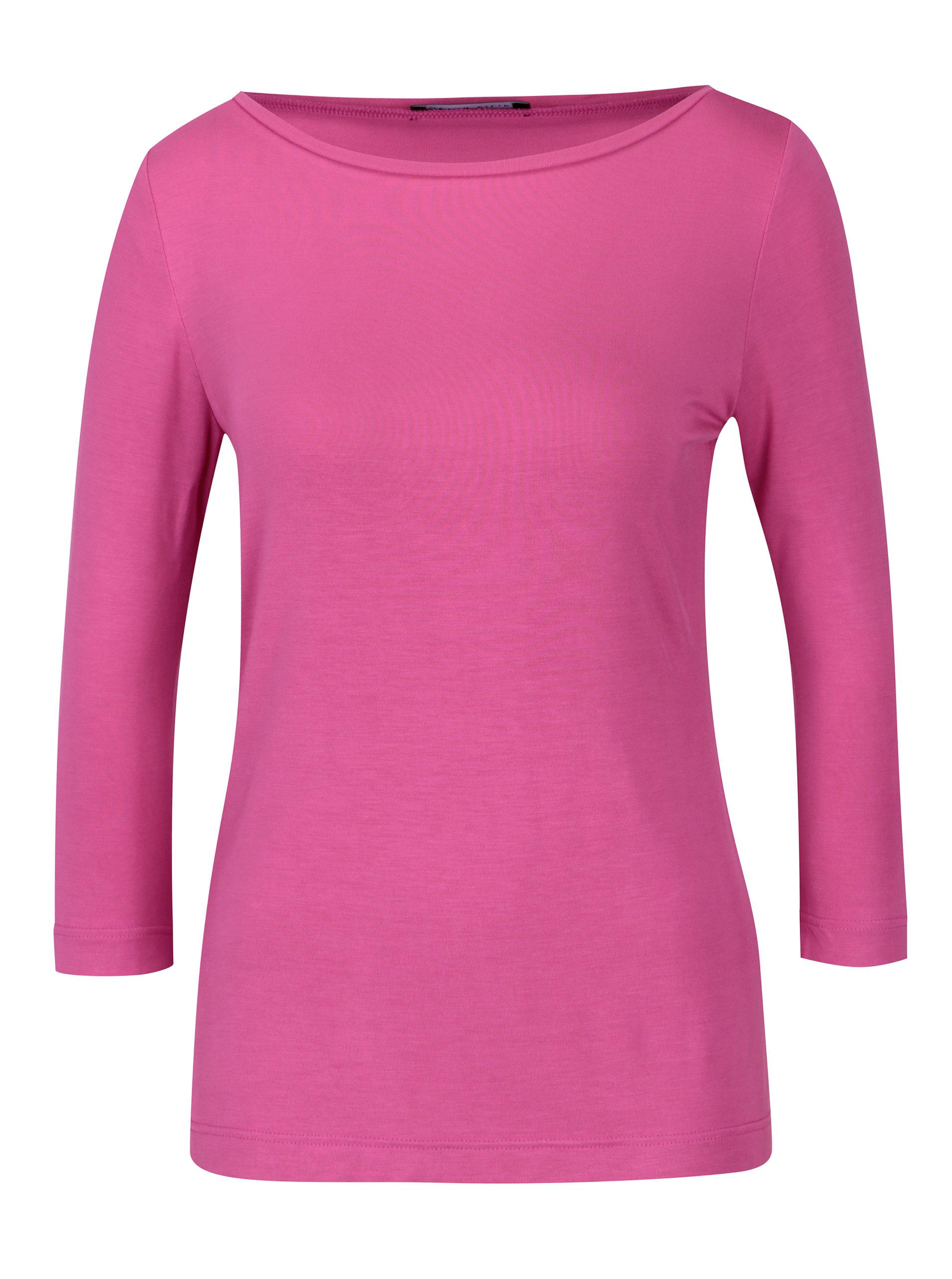 d9669d6123b9 Ružové dámske tričko s 3 4 rukávom Pietro Filipi ...