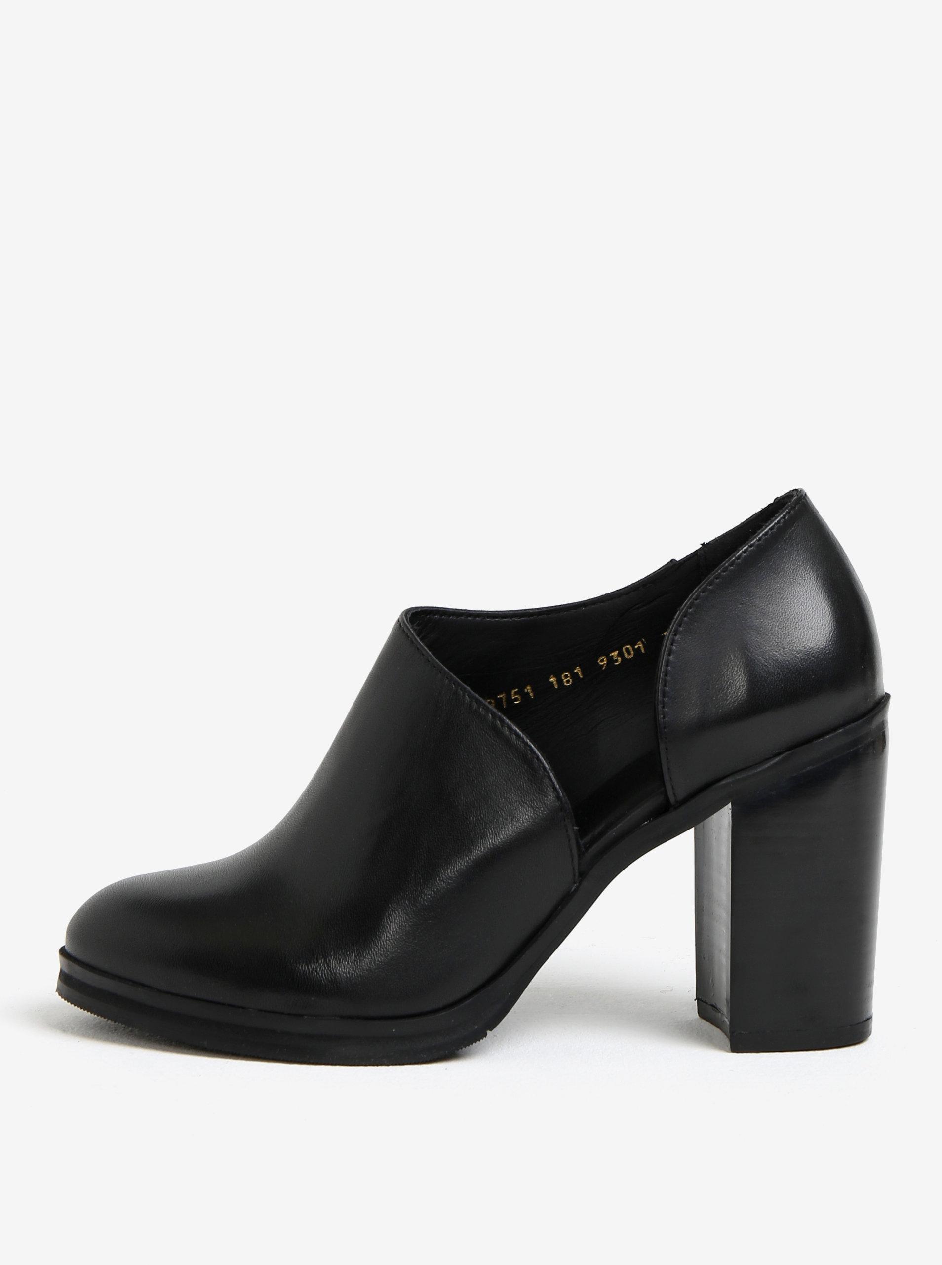 Černé dámské kožené boty na vysokém podpatku Royal RepubliQ ... 7082127e06