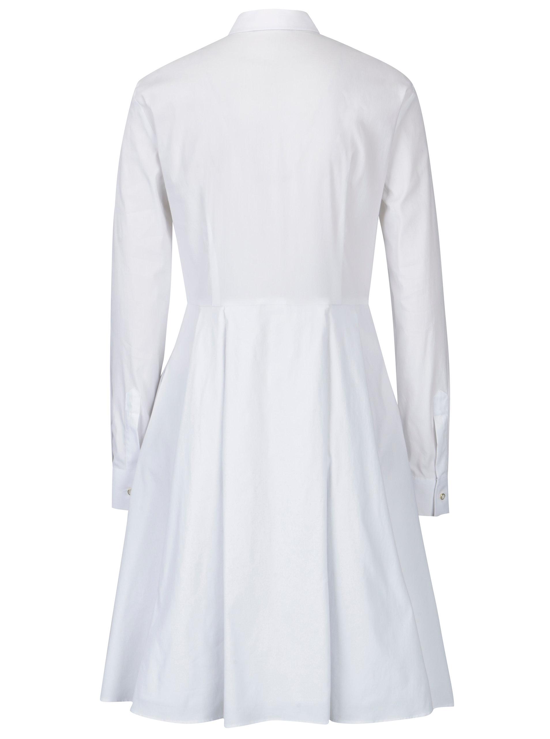 12c356e7565b Bílé dámské košilové šaty Pietro Filipi ...