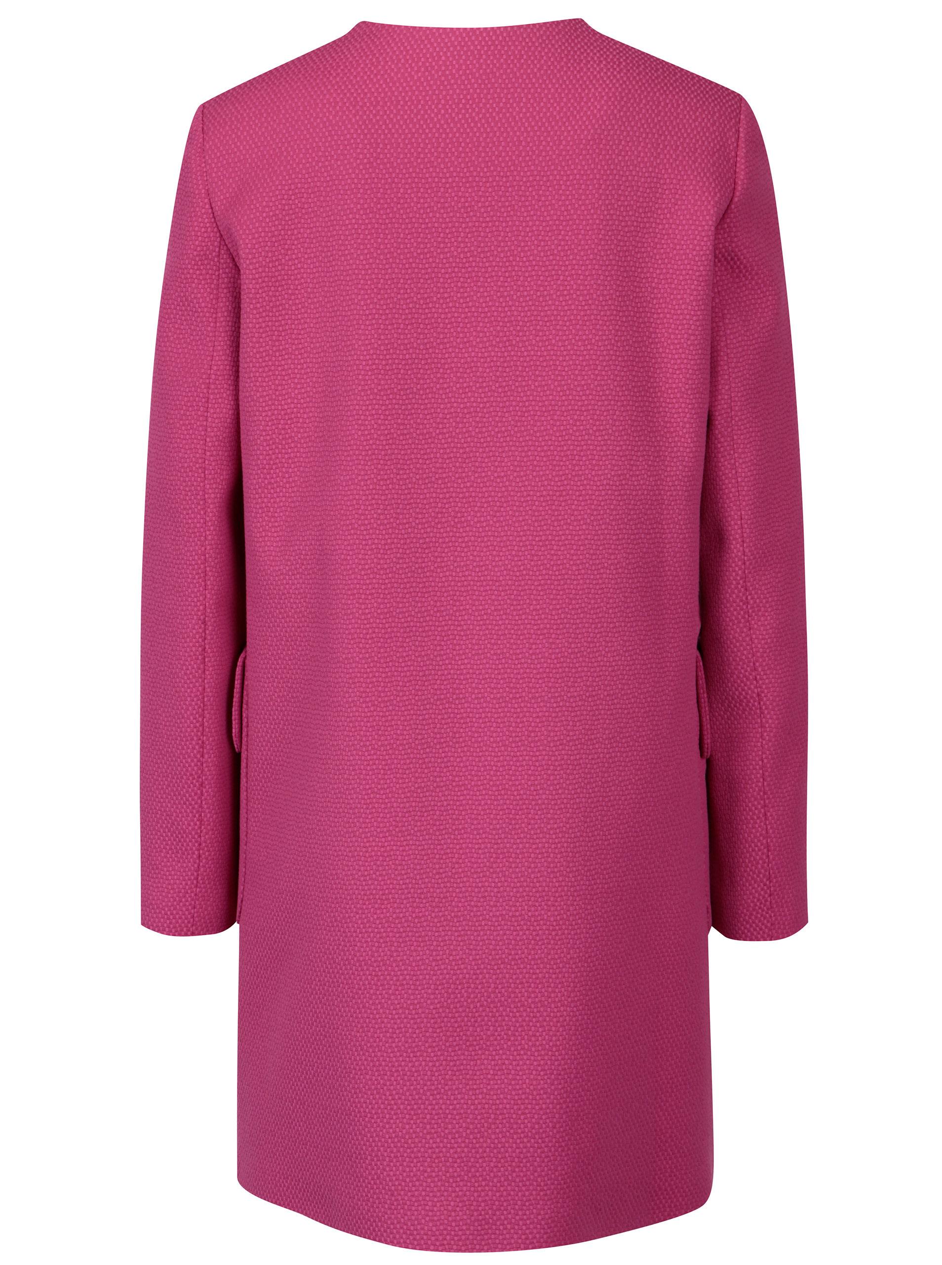 befde6b3754 Růžový dámský kabát Pietro Filipi ...