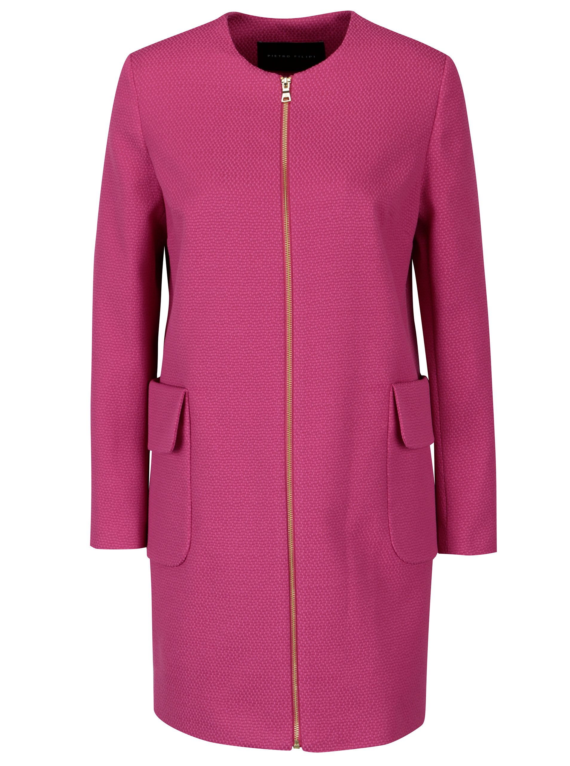 Růžový dámský kabát Pietro Filipi ... d541b49c97