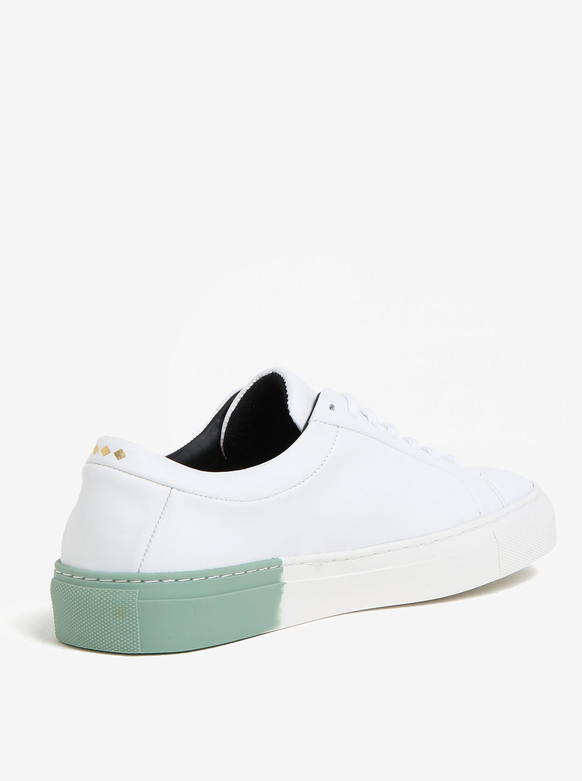 181b31d52b Zeleno-biele dámske kožené tenisky Royal RepubliQ ...