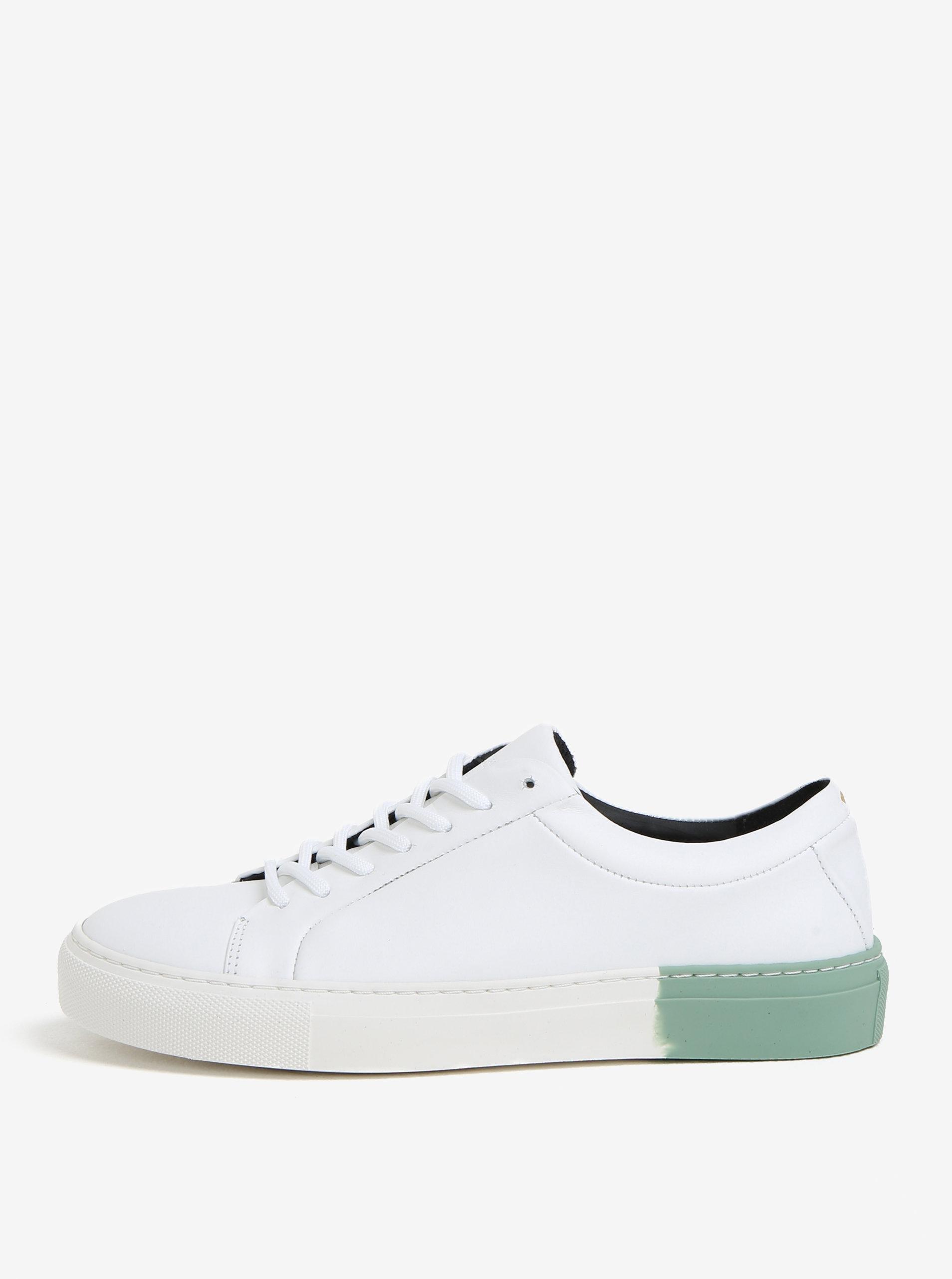 c3be386d61c Zeleno-bílé dámské kožené tenisky Royal RepubliQ ...