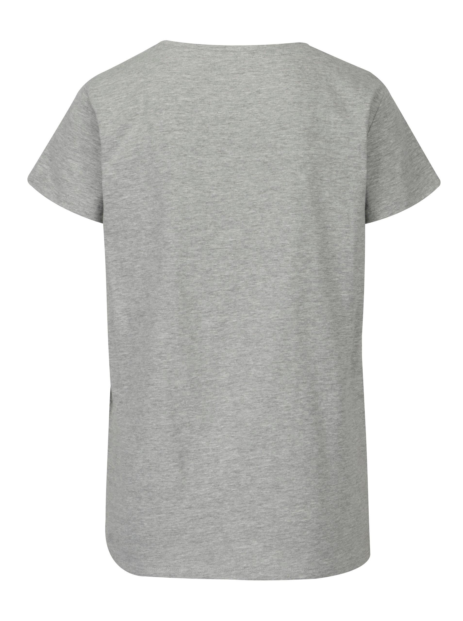 Šedé žíhané volné tričko s potiskem Jacqueline de Yong New Sky ... e65405f52b