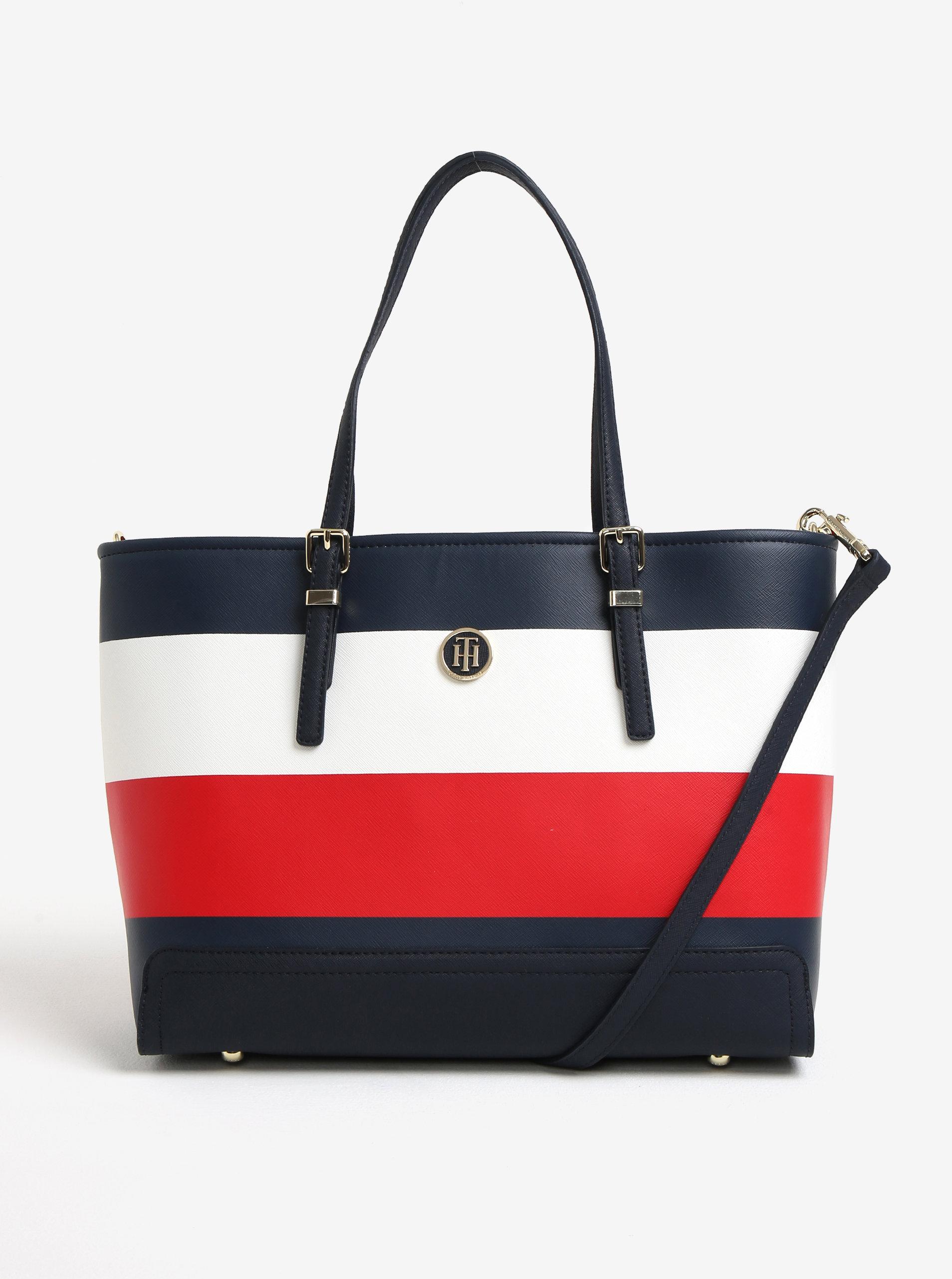 Červeno-modrá veľká kabelka Tommy Hilfiger ... fbda17d493d