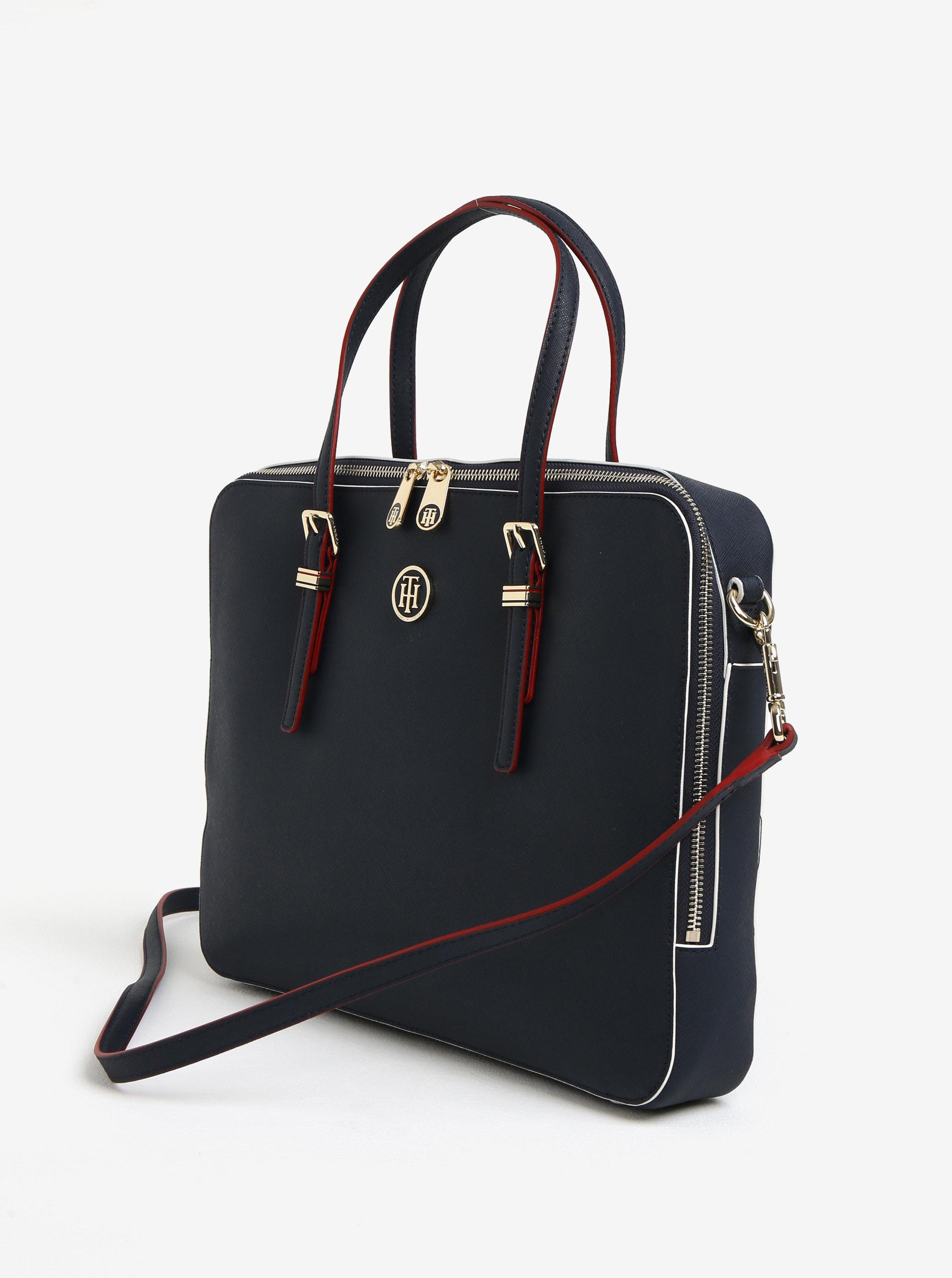 Tmavomodrá dámska taška na notebook Tommy Hilfiger ... 9bfd42b8148