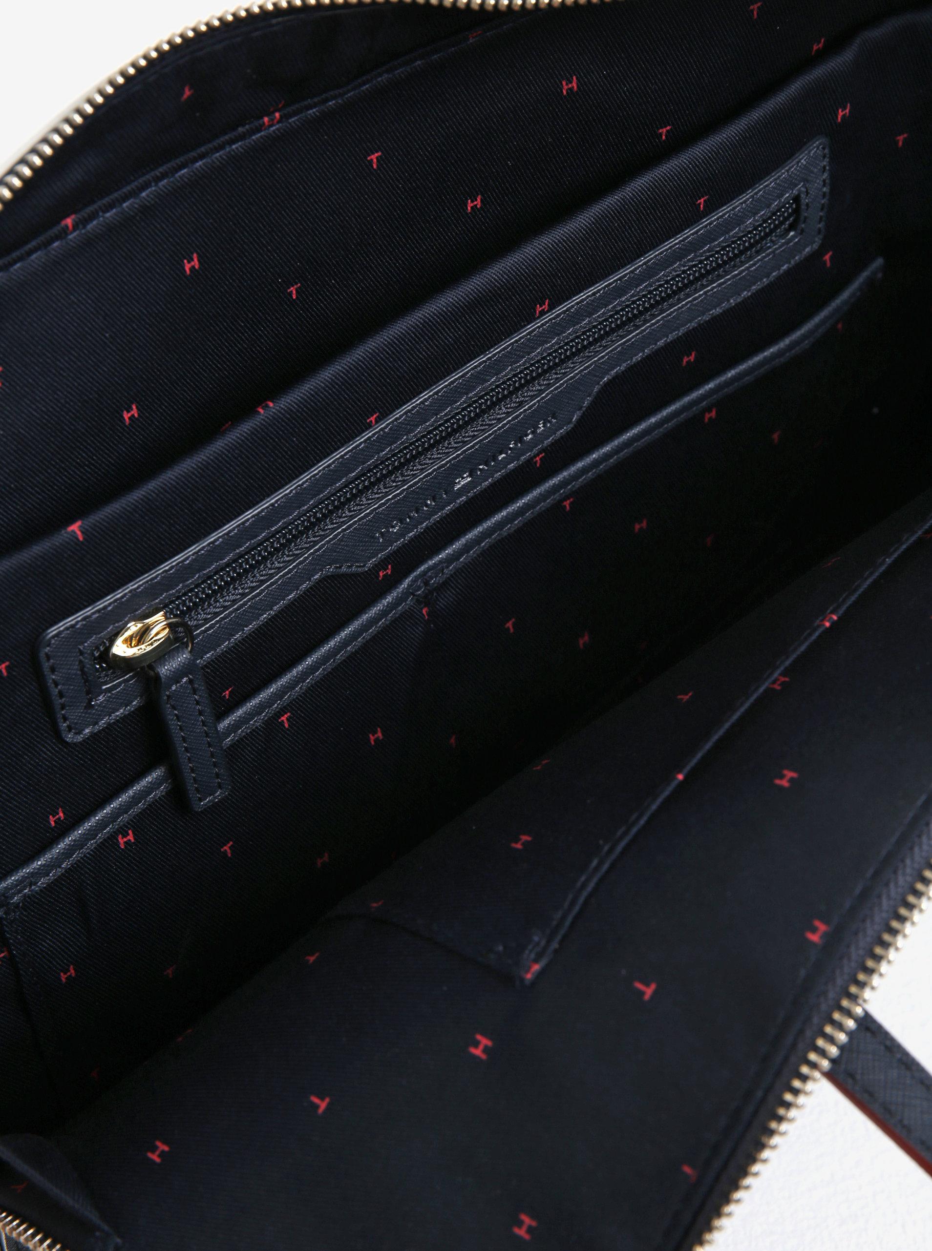 069d26fdd3 Tmavě modrá dámská taška na notebook Tommy Hilfiger - Akční cena ...