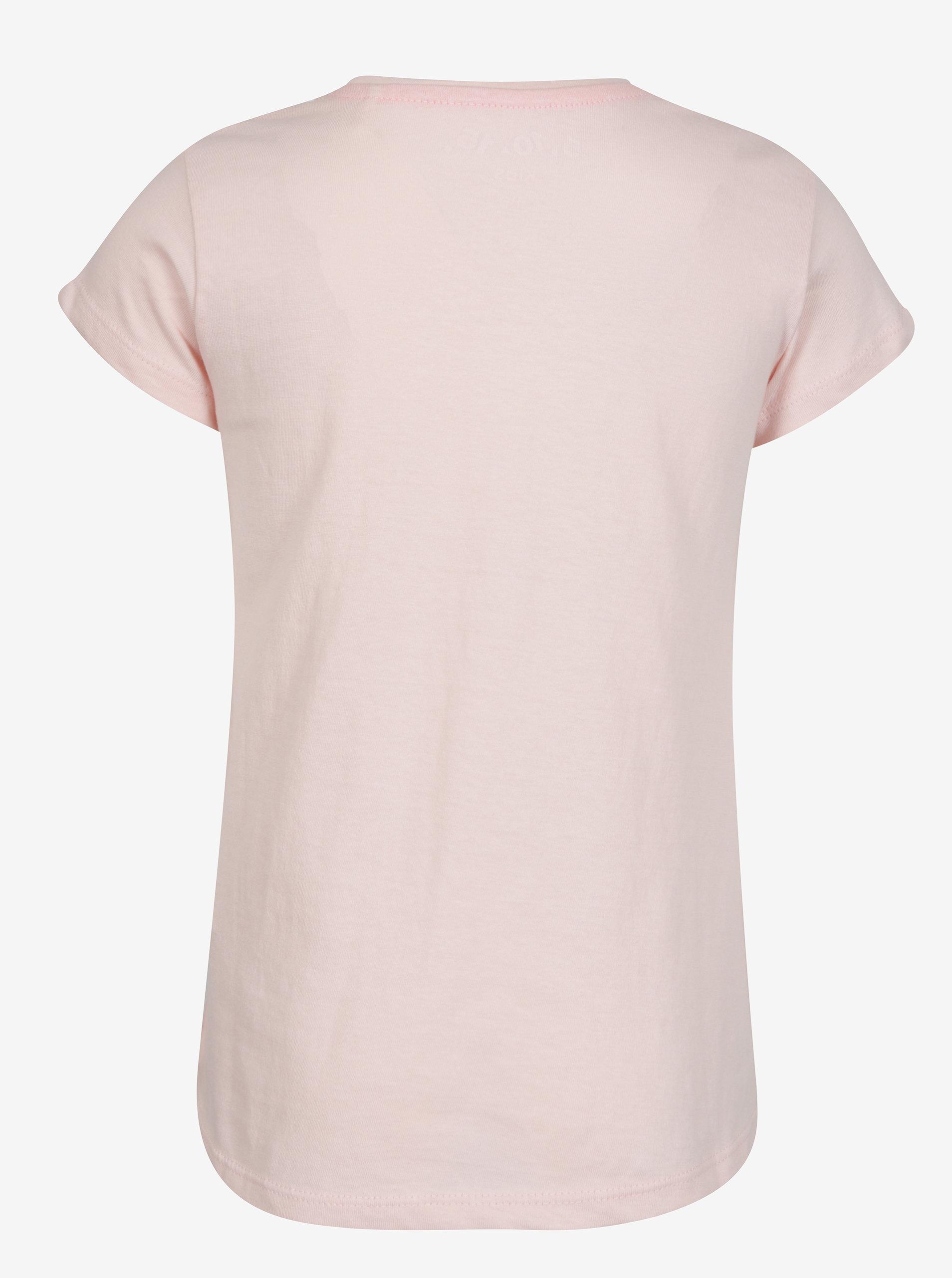cddfb77b4440 Ružové dievčenské tričko s krátkym rukávom a ligotavou potlačou 5.10 ...