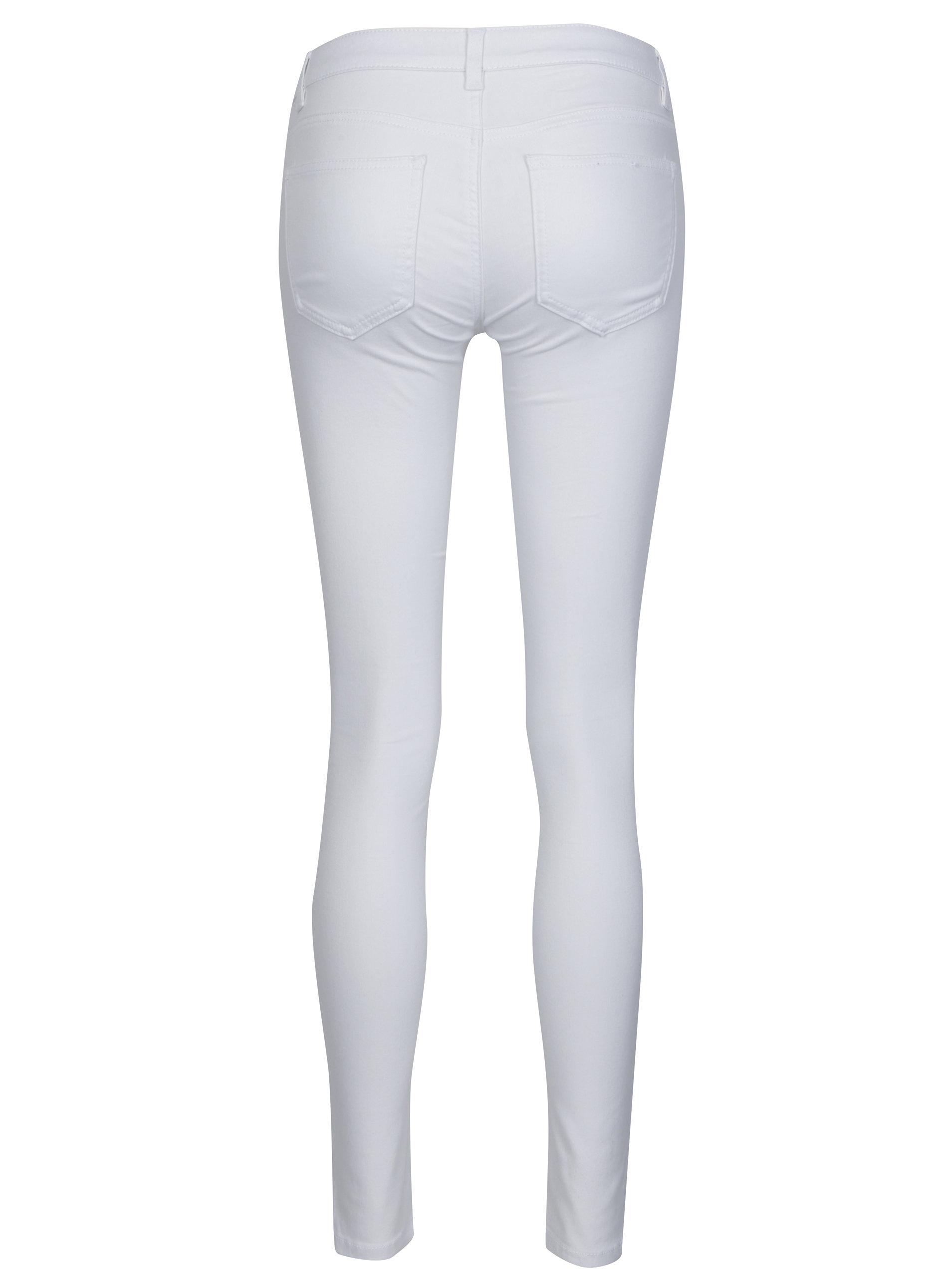 f1f35bc8273d Bílé super slim džíny s nízkým pasem Noisy May Eve ...