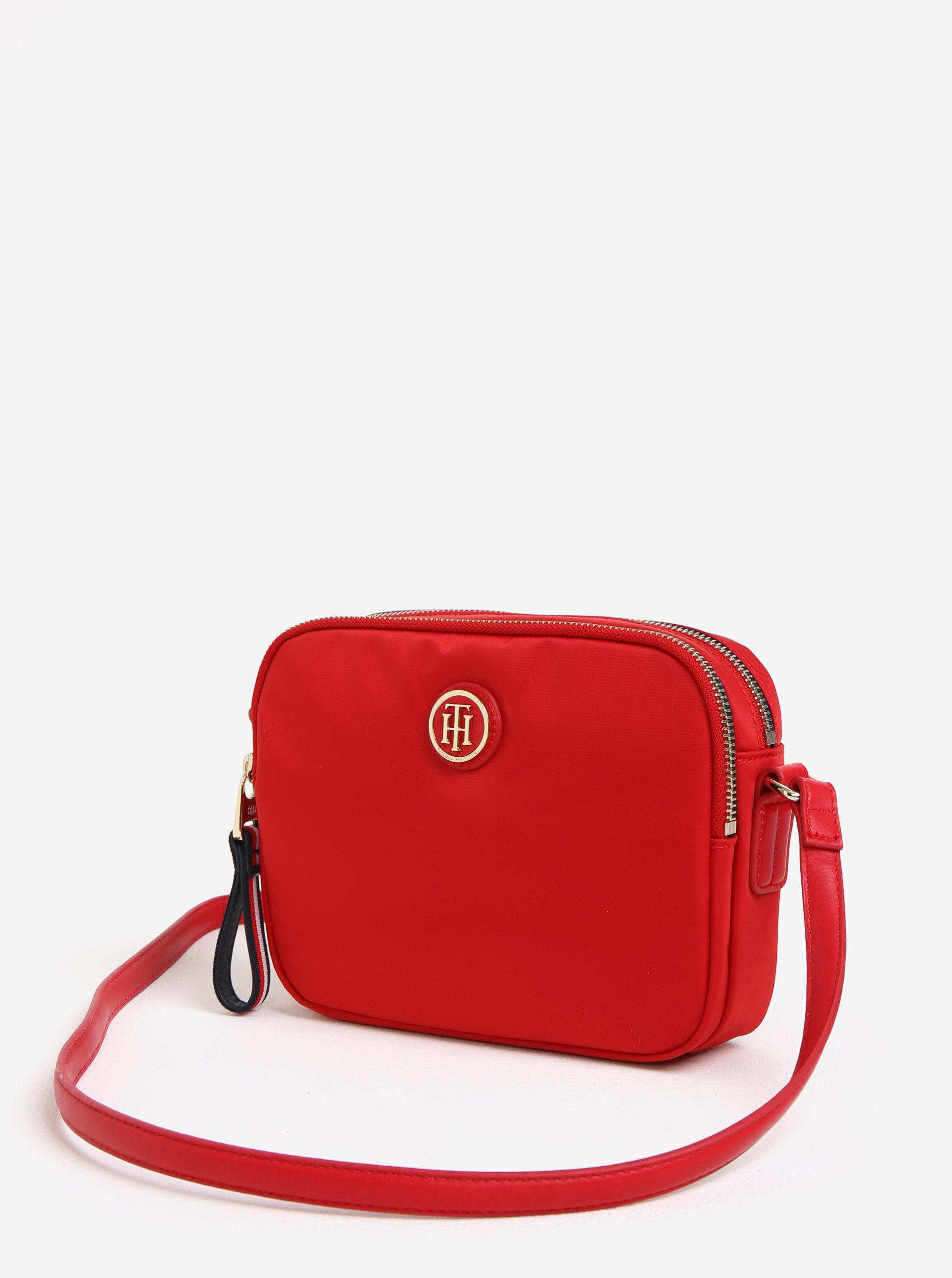 Červená crossbody kabelka Tommy Hilfiger ... 1920cd70400