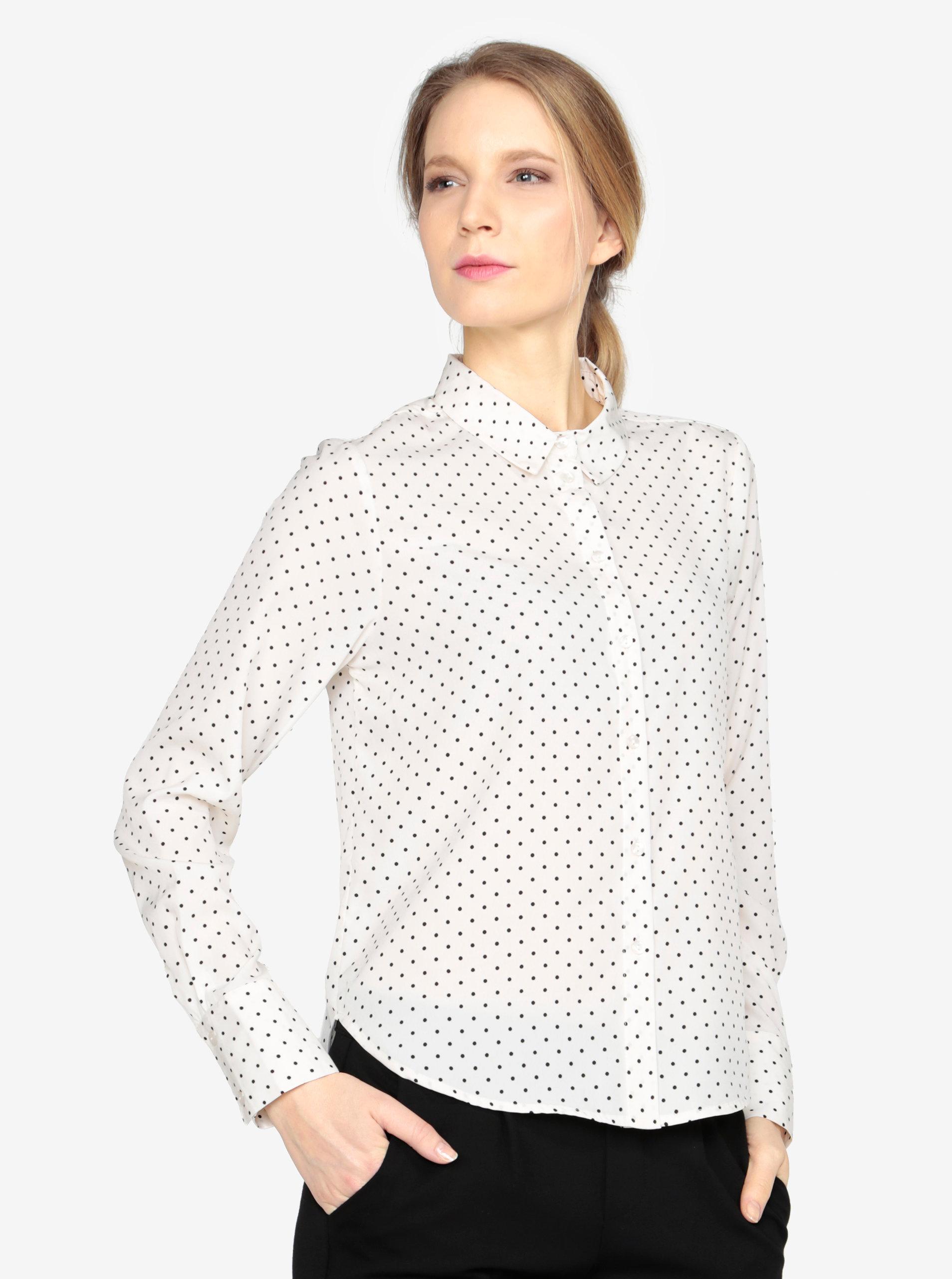 e46ca4354df6 Čierno-krémová vzorovaná košeľa VERO MODA Nicky ...