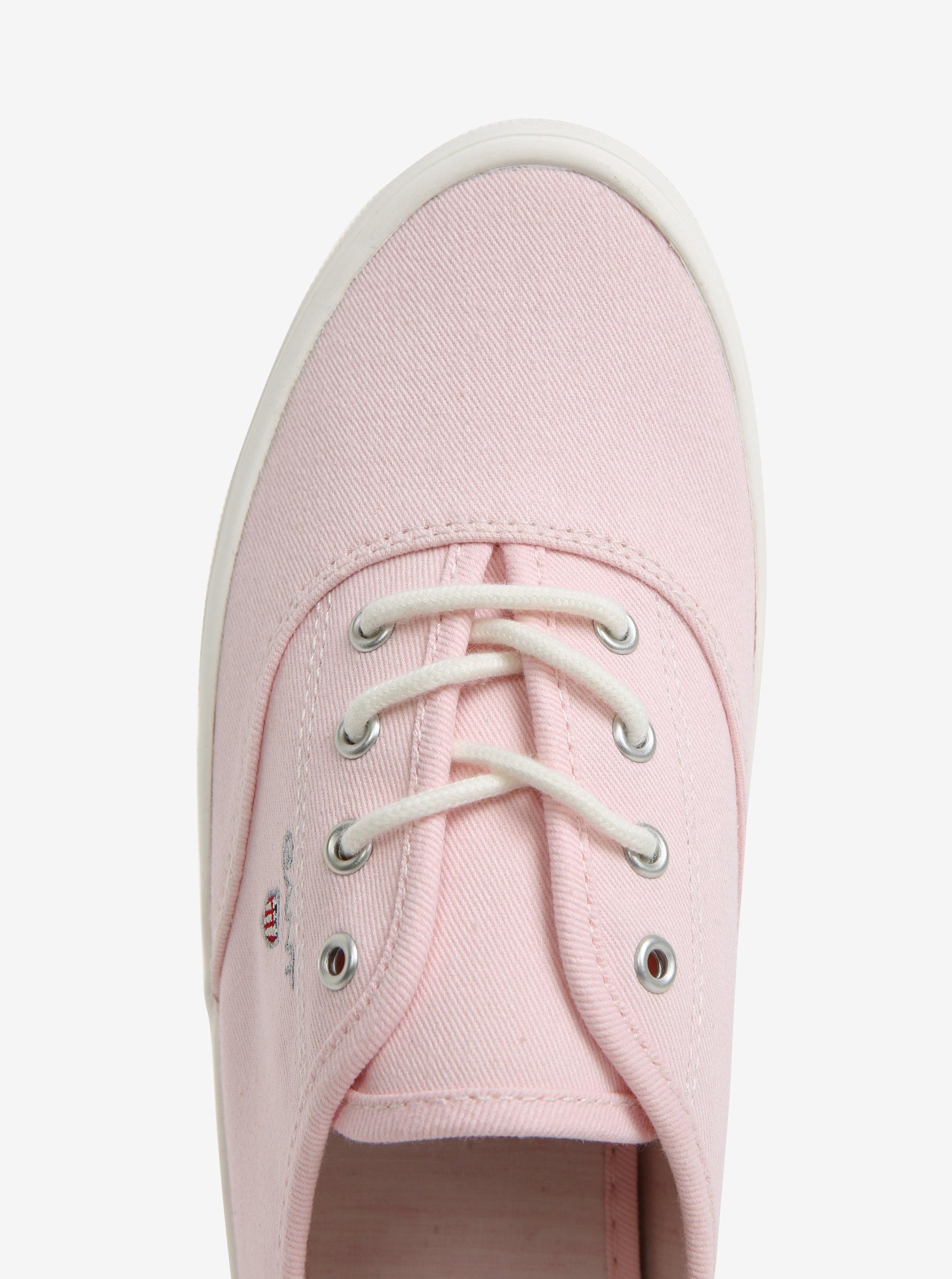 eceb4982ecf Světle růžové dámské plátěné tenisky GANT New Haven - Akční cena ...