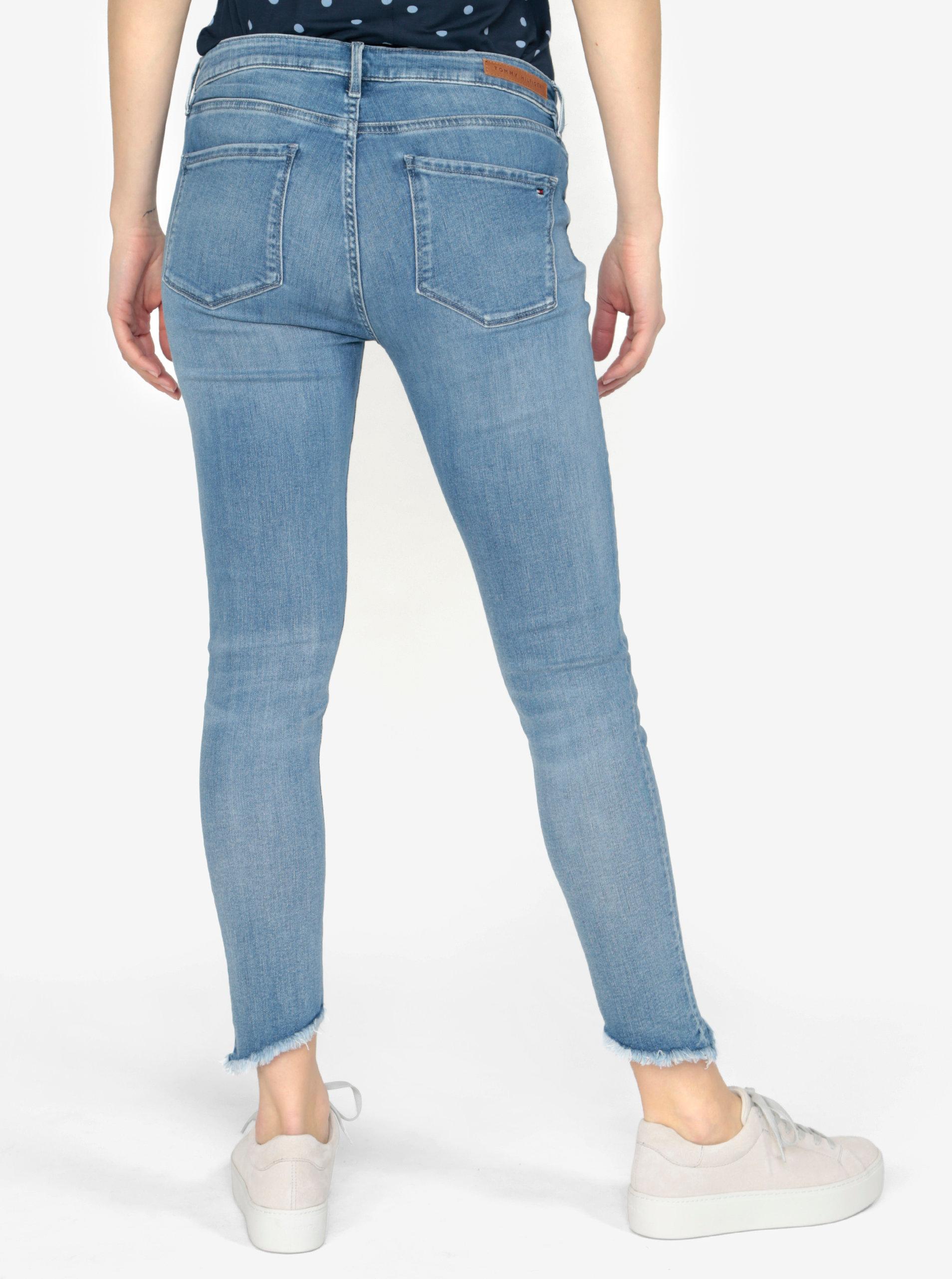 73ab9f24617 Světle modré dámské skinny džíny Tommy Hilfiger Nanny ...