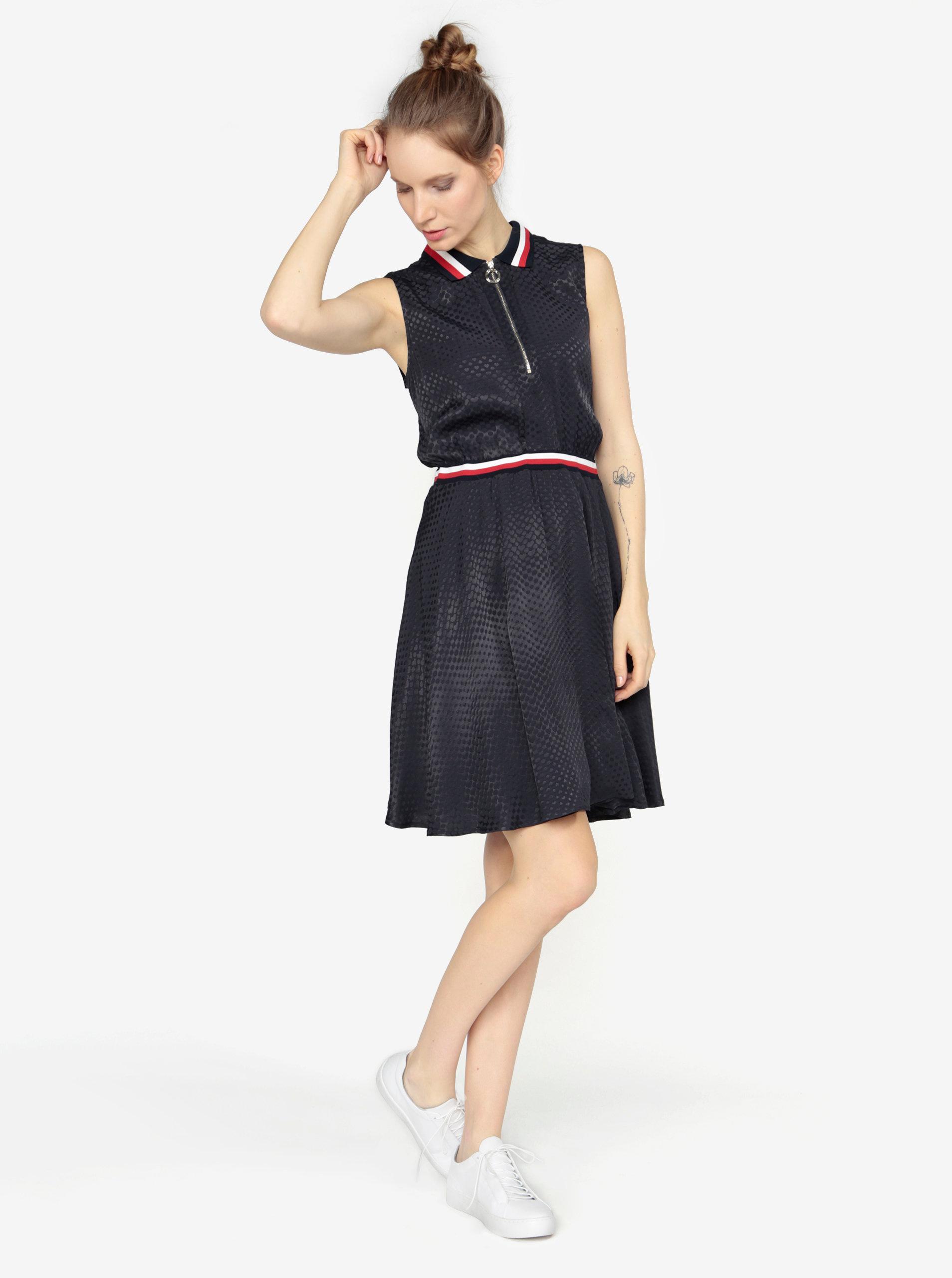 Tmavomodré šaty bez rukávov Tommy Hilfiger ... 1862795d561