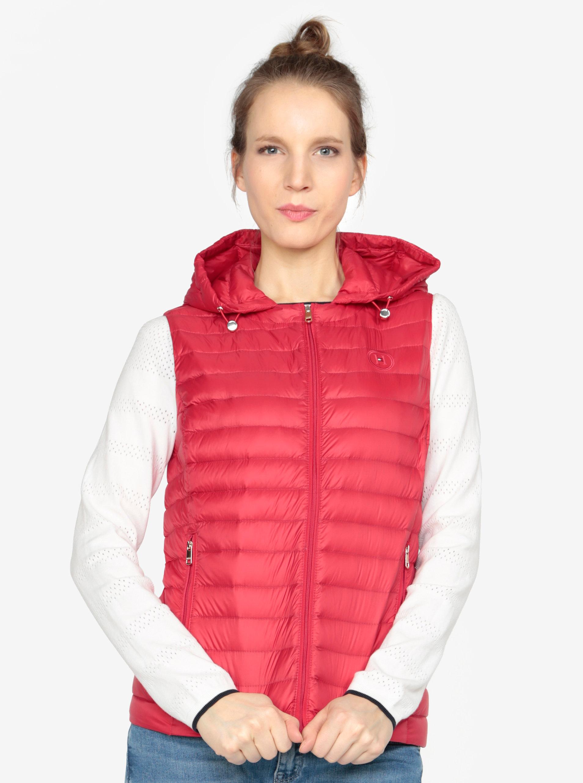 Červená prešívaná vesta Tommy Hilfiger ... 9d2179182d0