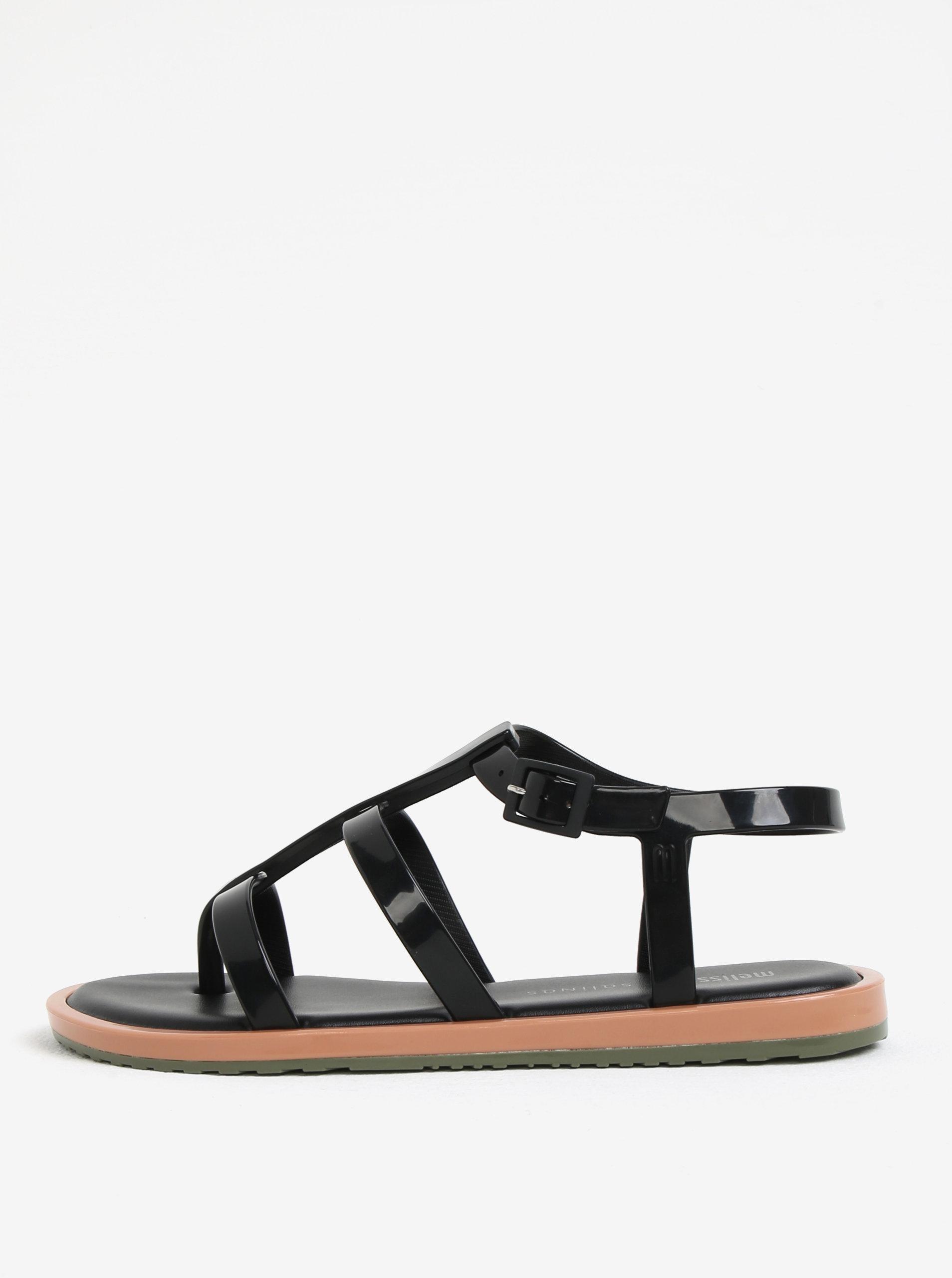 b2c07f7d079 Černé páskové sandály Melissa Caribe Verao ...