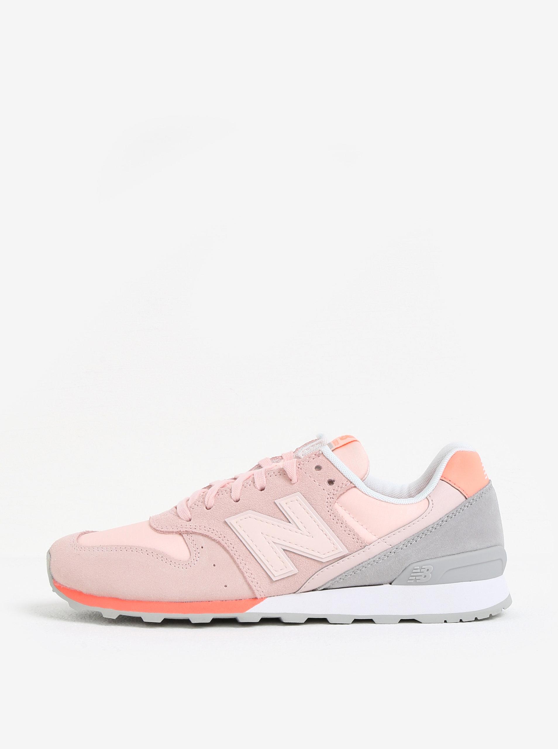Světle růžové dámské tenisky se semišovými detaily New Balance WR996 ... ffcf4dff306
