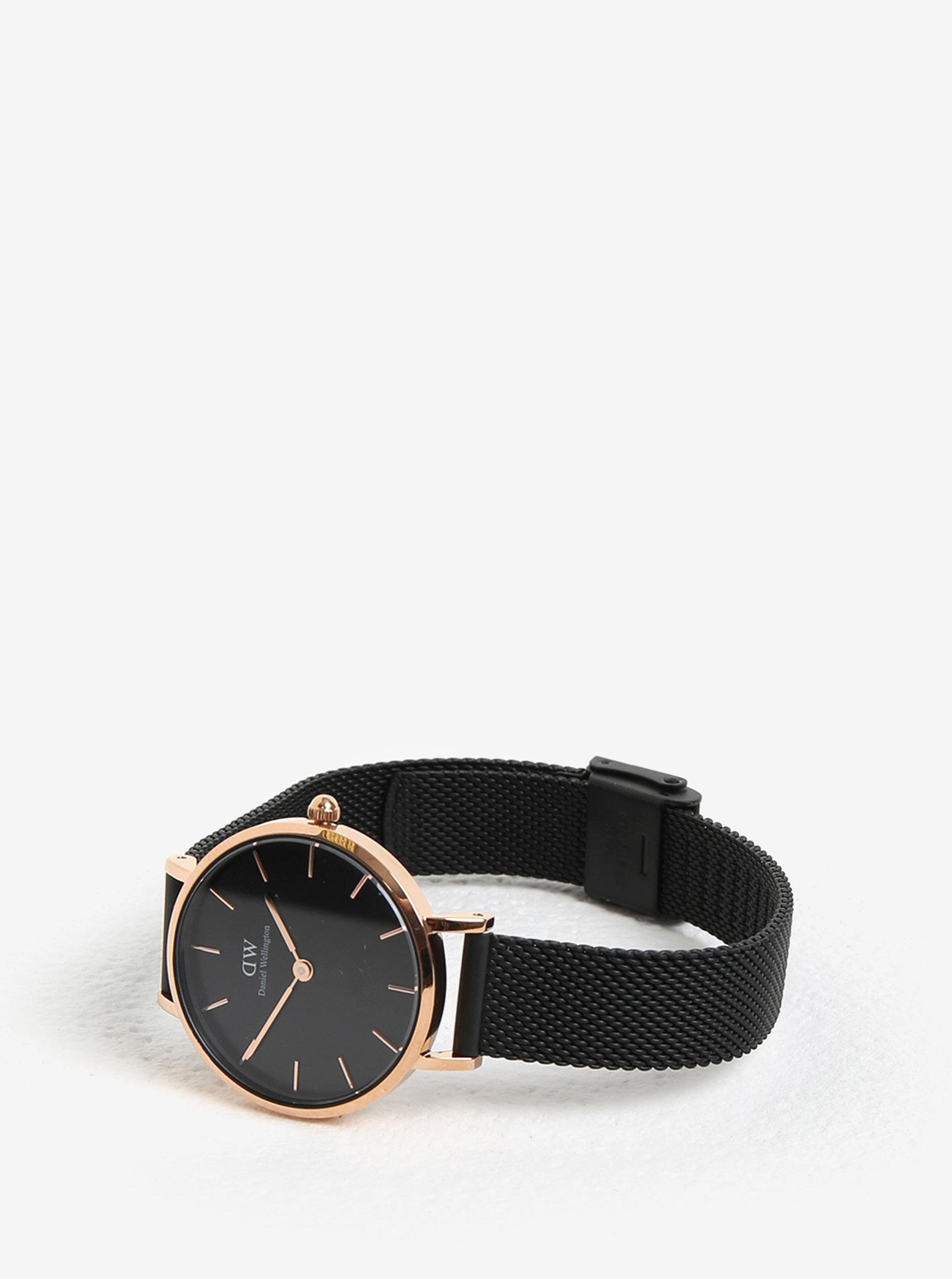 Dámské černé hodinky Daniel Wellington ... b9708cf063