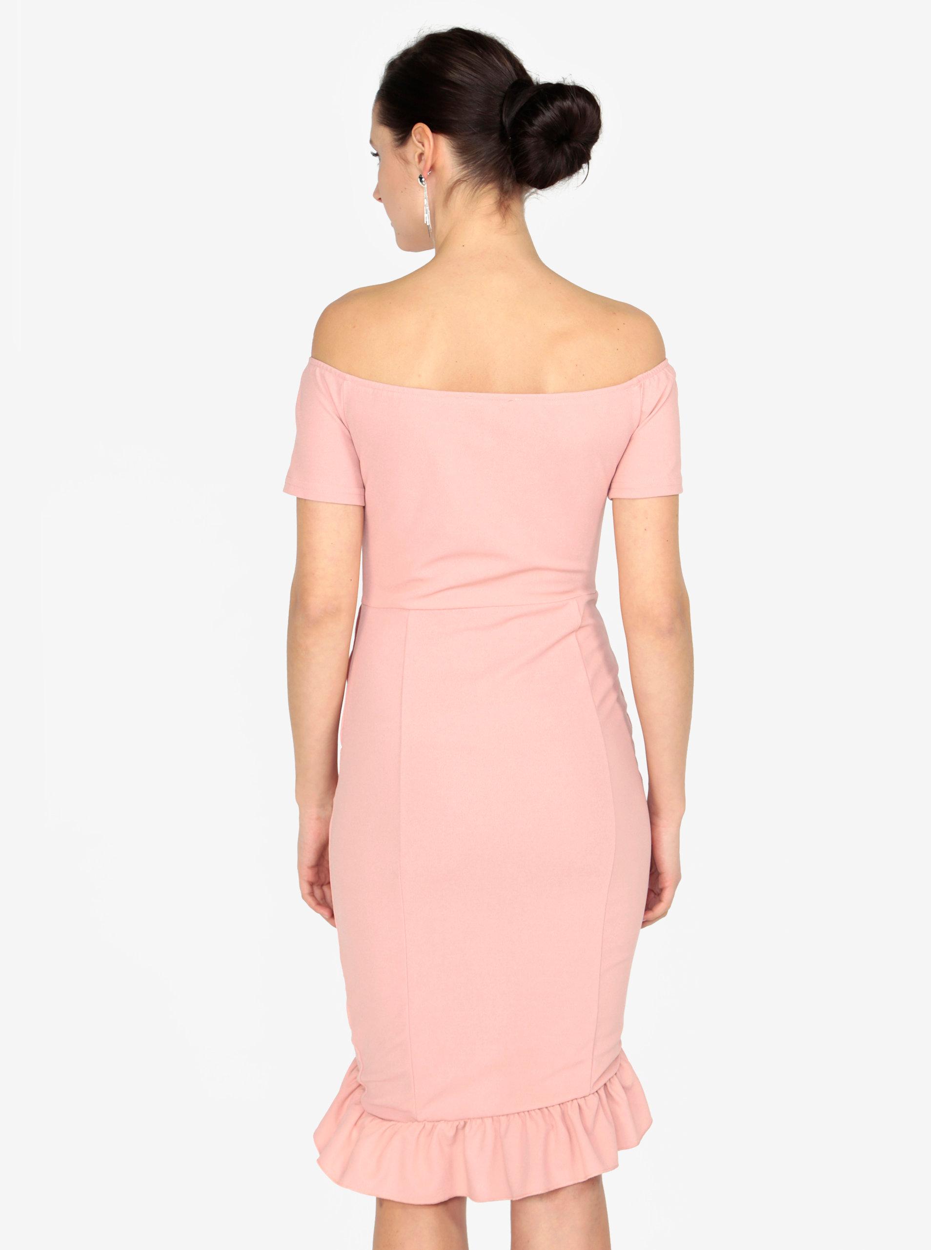 905bcdd979b4 Staroružové šaty s odhalenými ramenami AX Paris ...