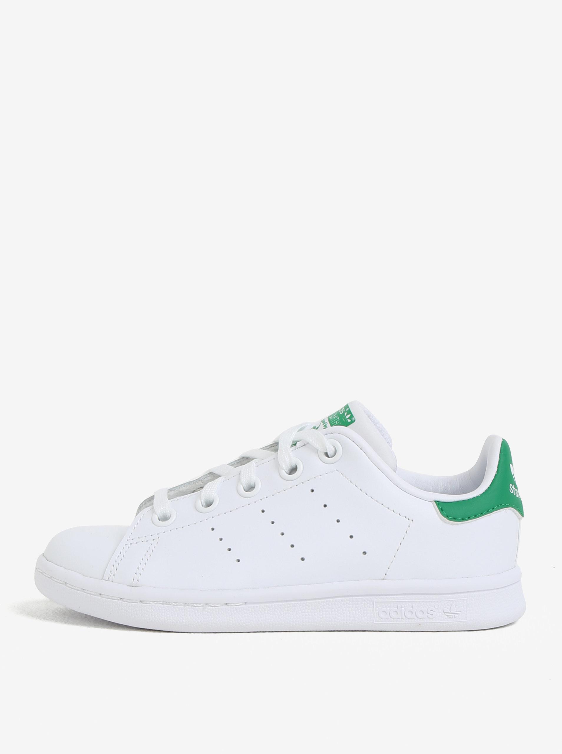 Zeleno-bílé dětské kožené tenisky adidas Originals Stan Smith C ... b832dd322c