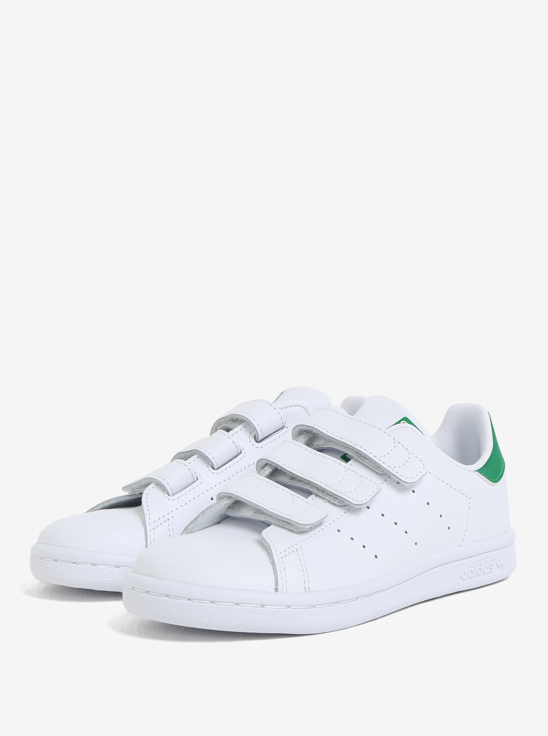 Bílé dětské kožené tenisky na suchý zip adidas Originals Stan Smith Cf C ... 1a0e01fdfd