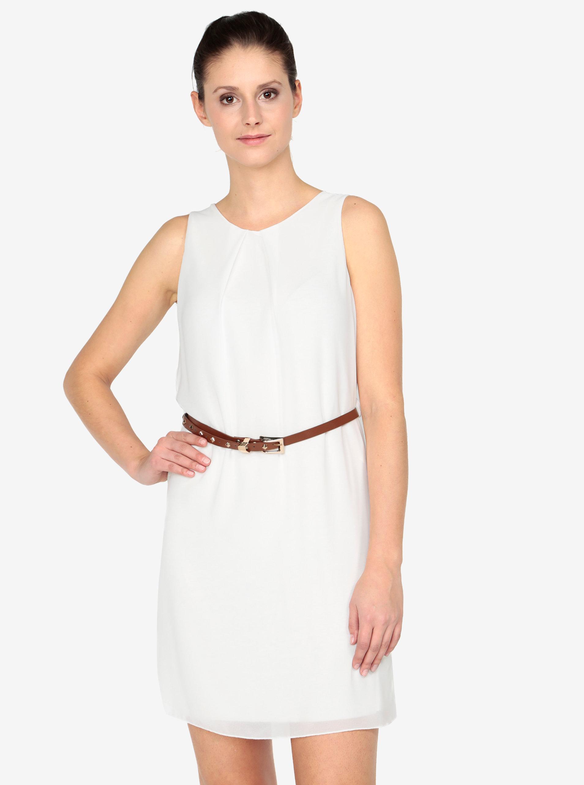 9d19dcebc82 Krémové šaty s páskem Haily´s Tanja ...