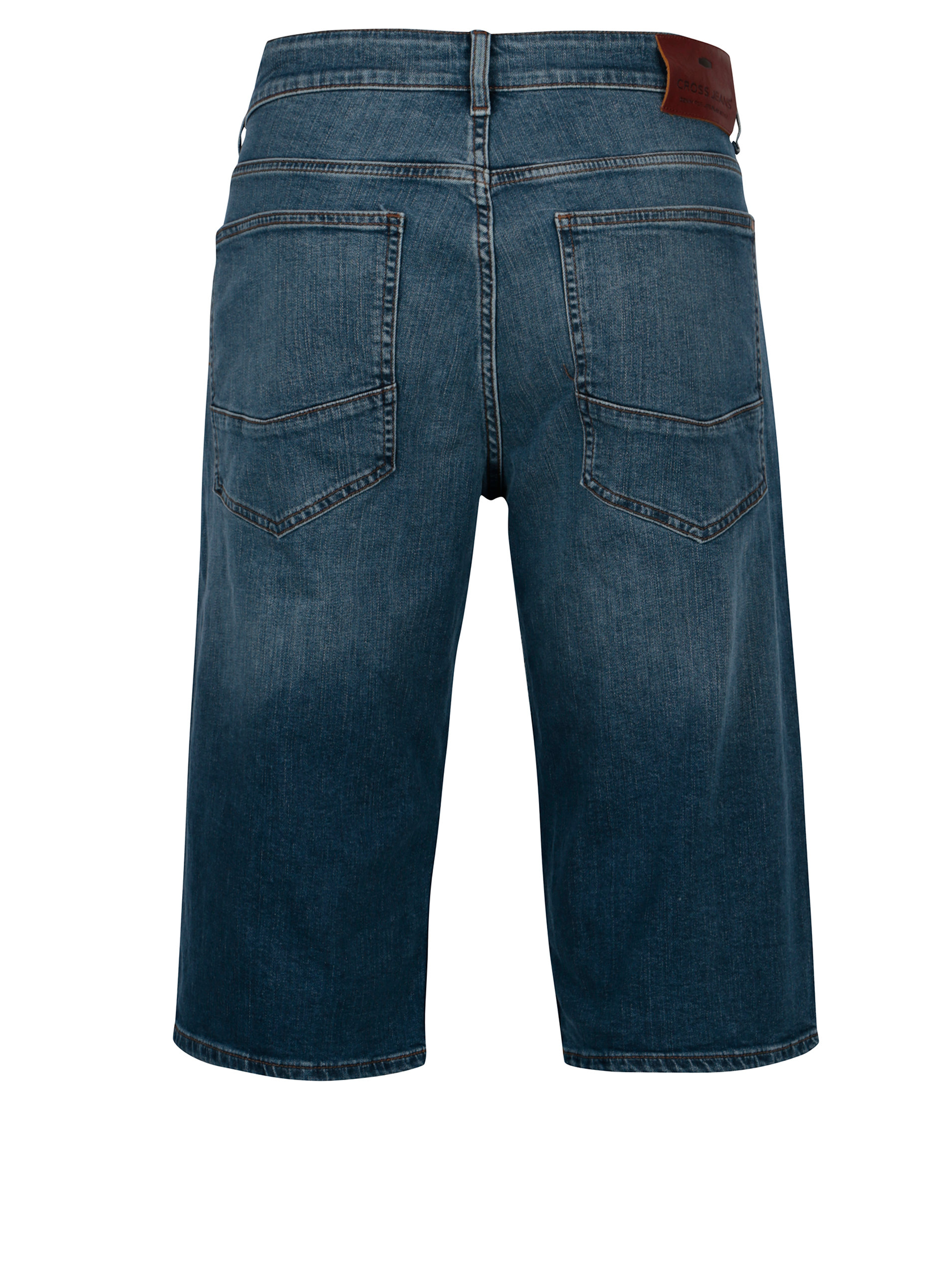 Modré pánské regular džínové kraťasy Cross Jeans ... 6bc440aa5d