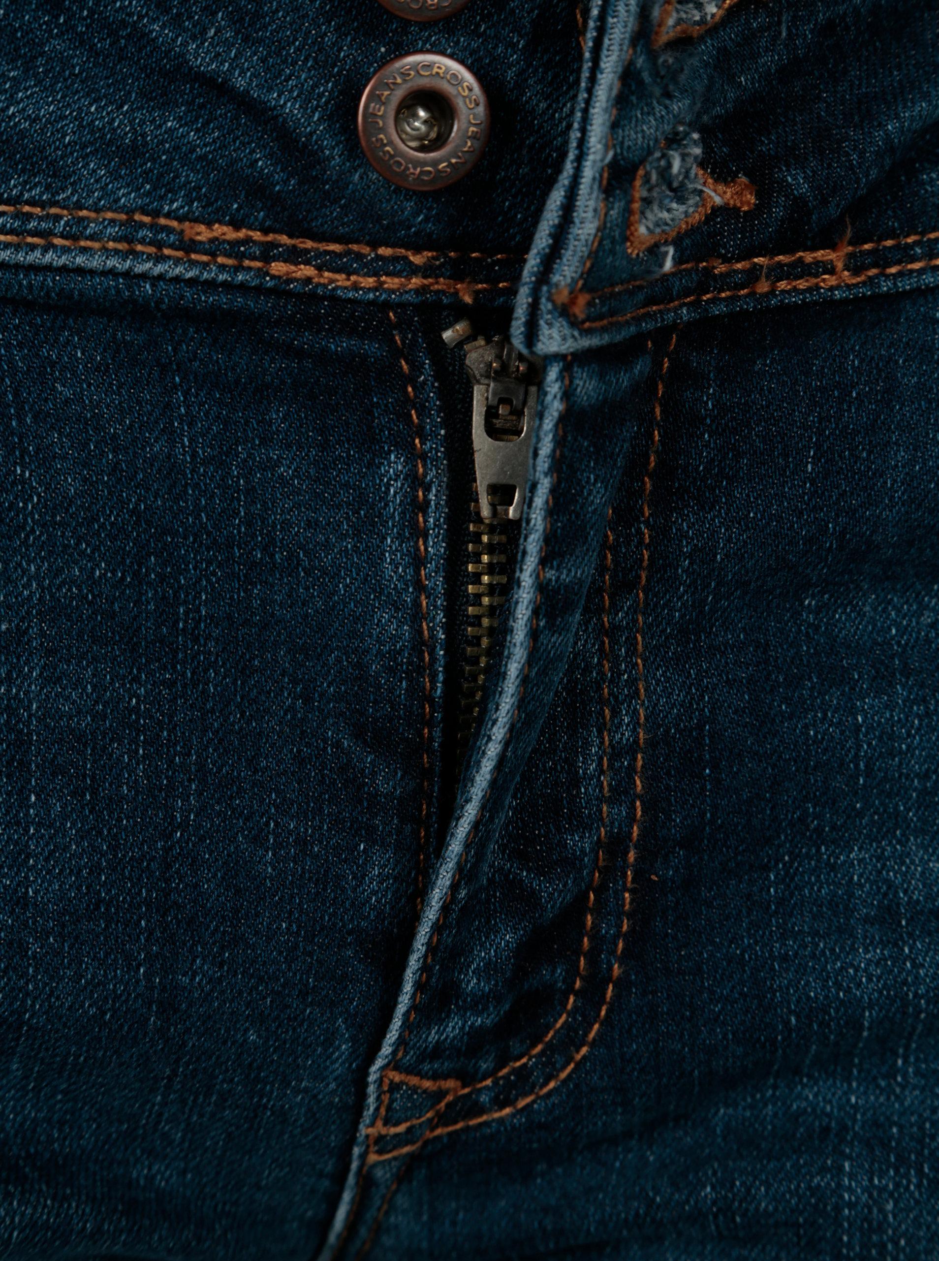 2ca2a8d75829 Tmavomodré dámske slim fit rifle s nízkym pásom Cross Jeans ...