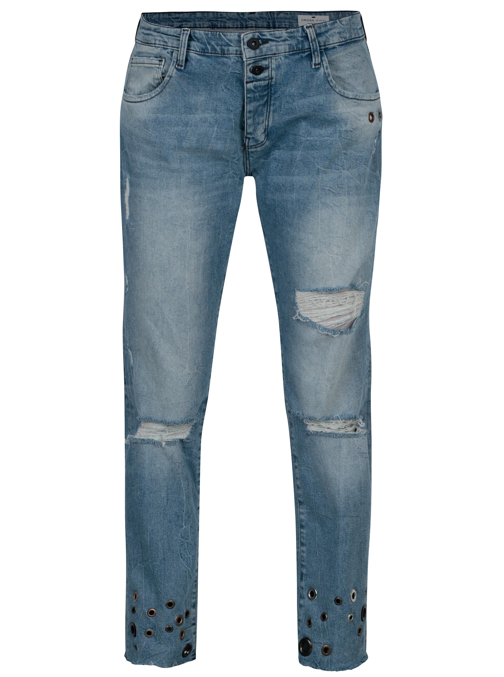 Modré dámské boyfriend džíny Cross Jeans ... 69f04ace00