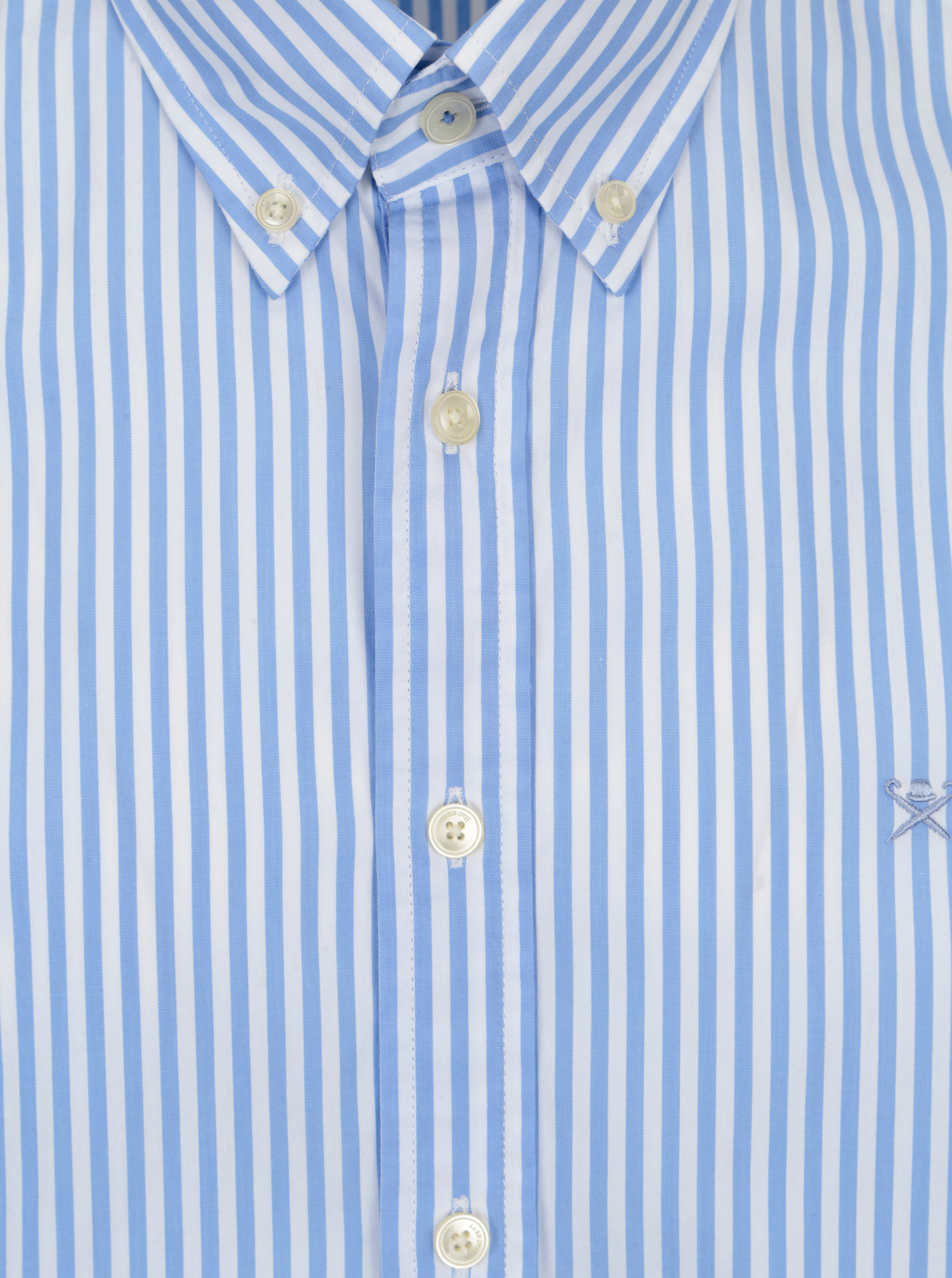 05a67a601e5c Bielo-modrá pruhovaná classic fit košeľa Hackett London ...