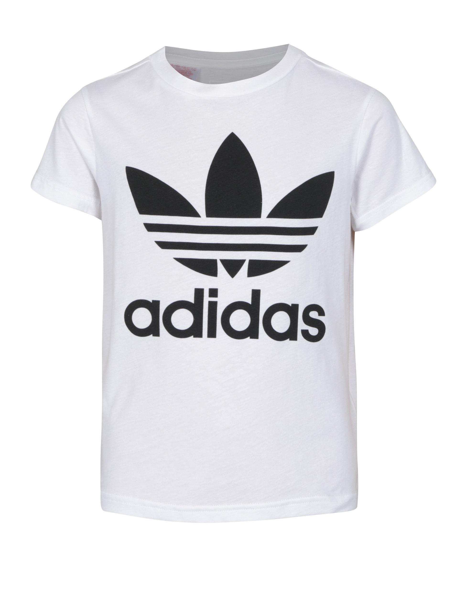 Bílé klučičí tričko s potiskem adidas Originals ... 3aa215331a