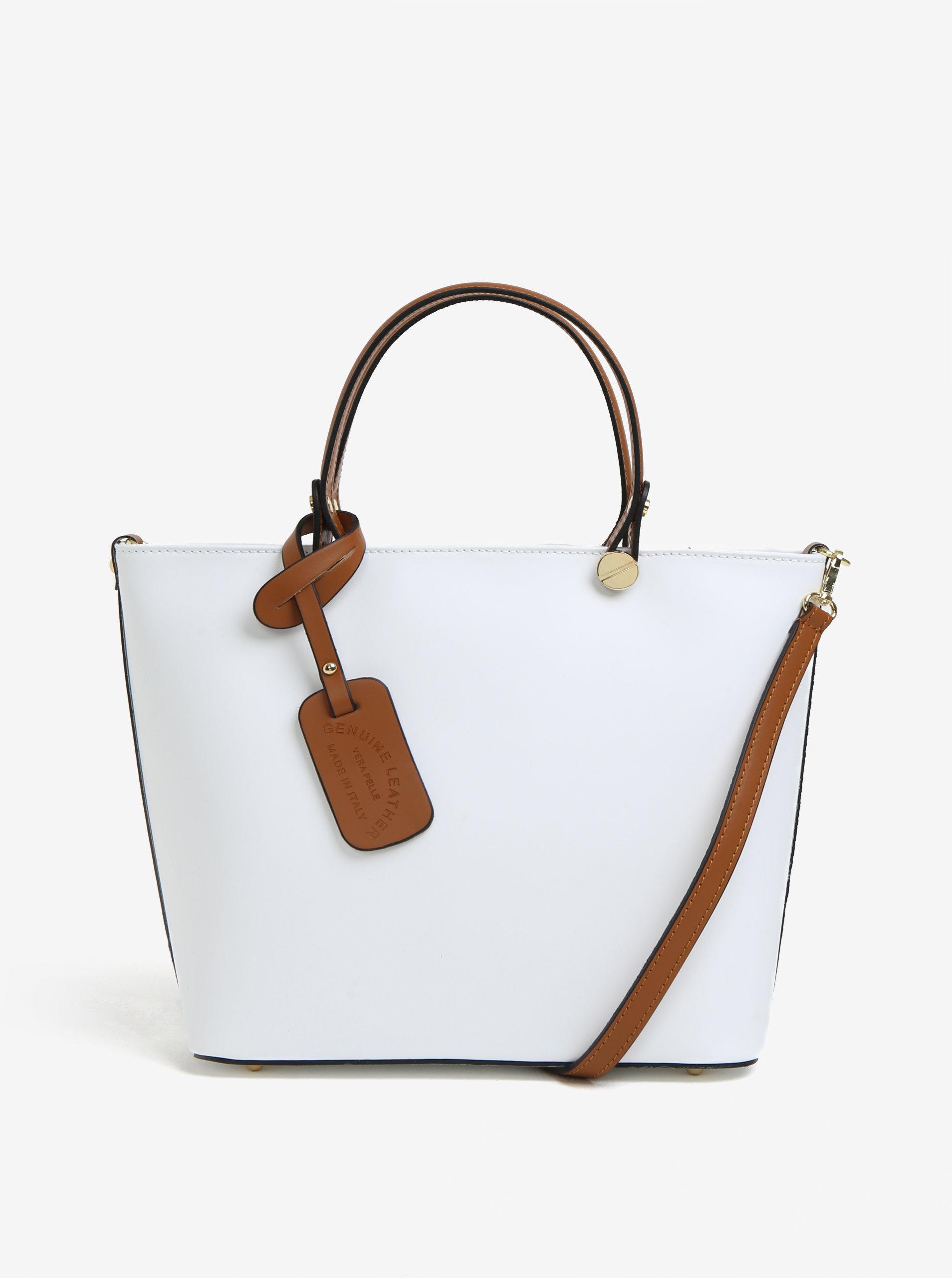 a4471f417c7d9 Biela dámska kožená kabelka KARA | ZOOT.sk