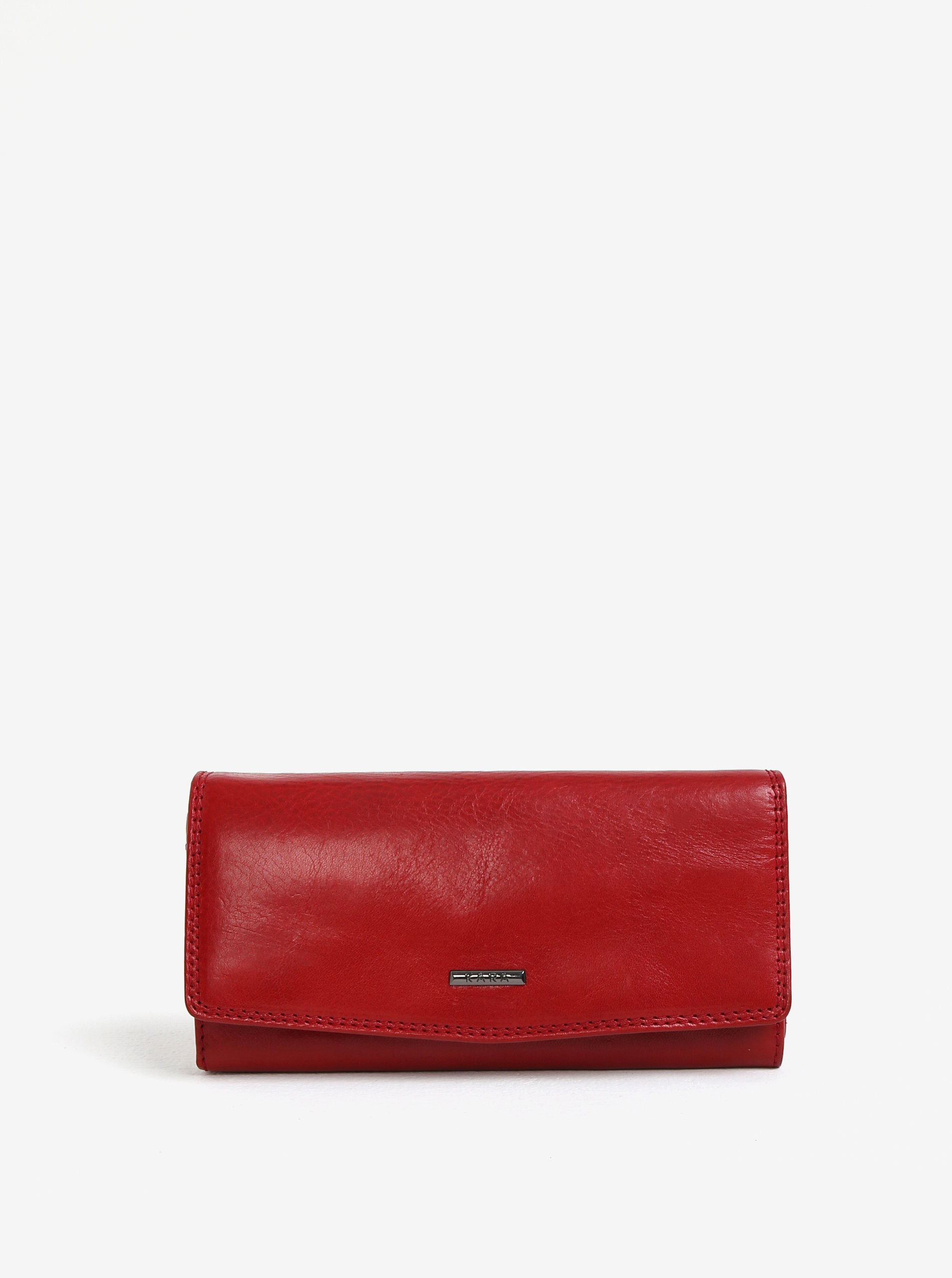 1aed79878a9d Červená dámska veľká kožená peňaženka KARA ...