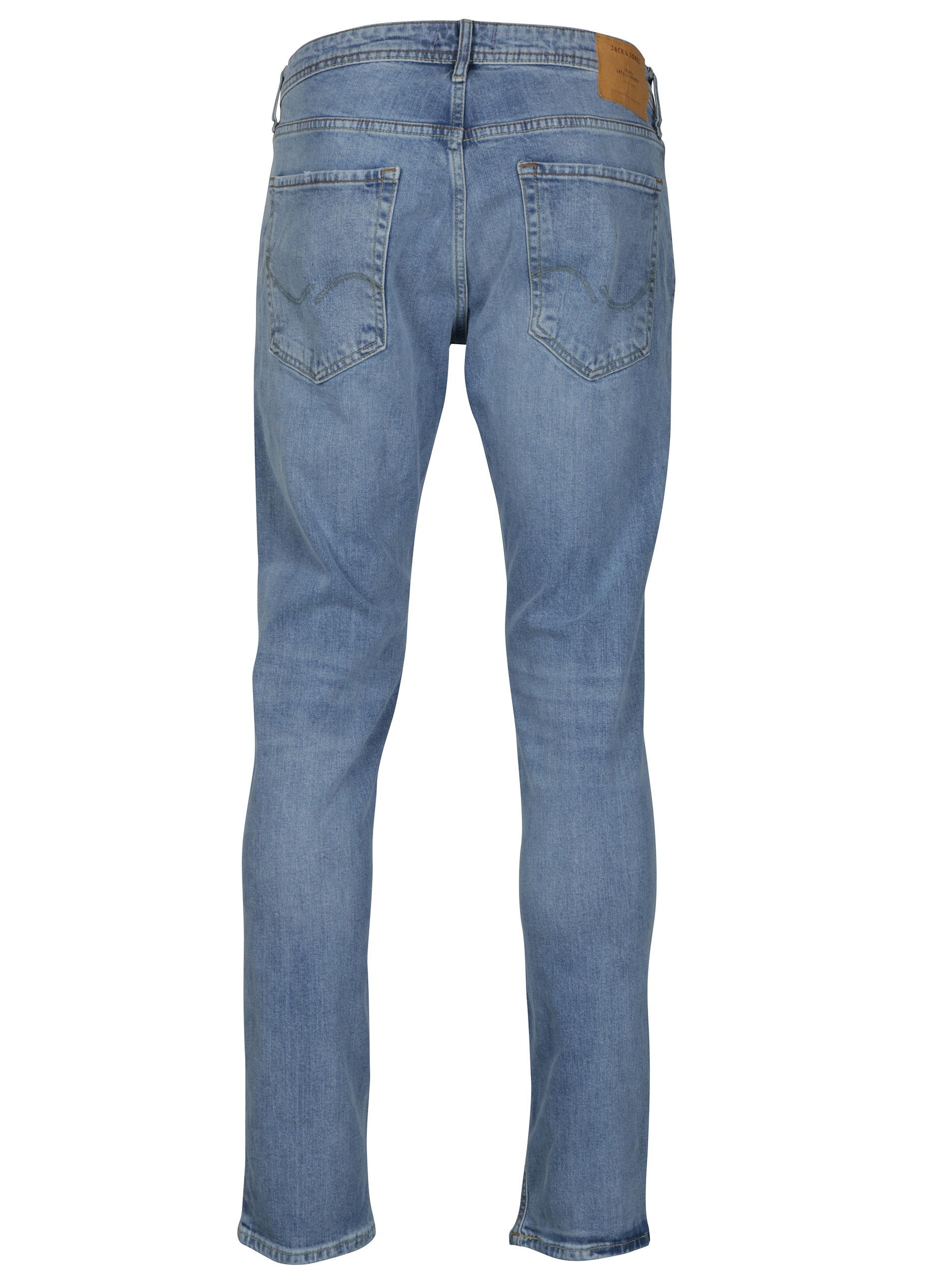 00675a7bdb13 Světle modré slim fit džíny s potrhaným efektem Jack   Jones Tim ...