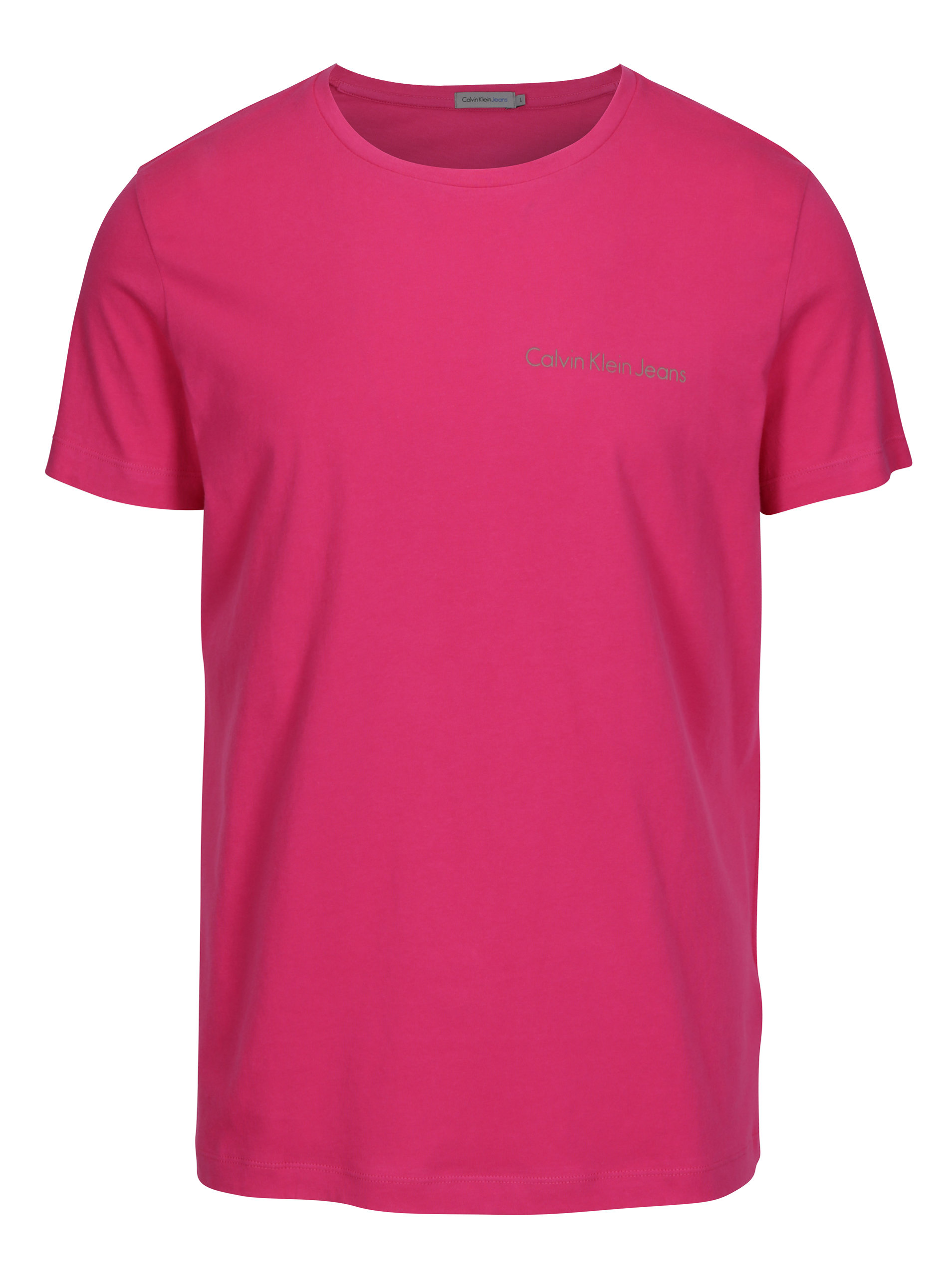 Růžové pánské triko s potiskem Calvin Klein Jeans Typoko ... b23b9f6781