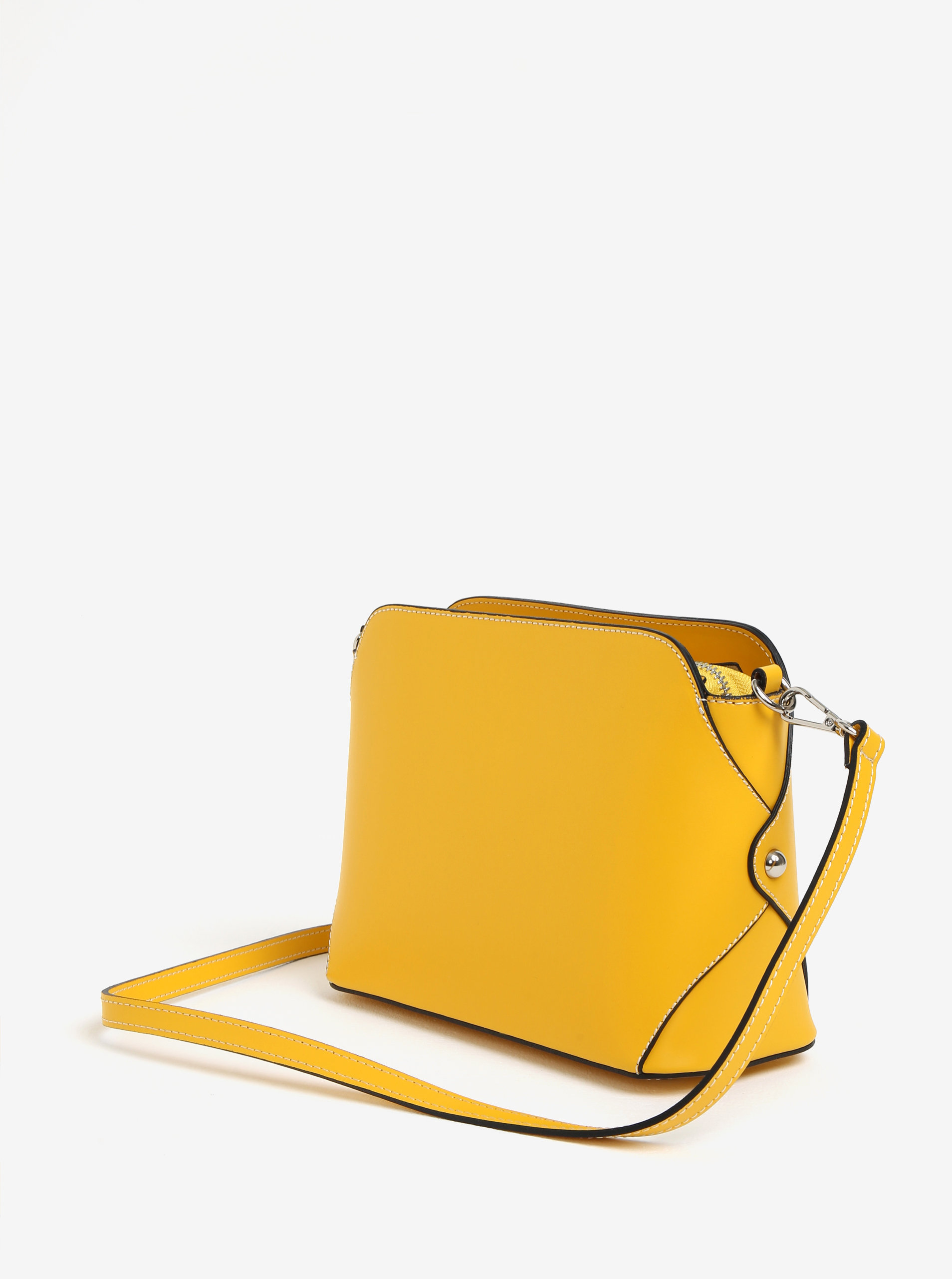 Žltá dámska kožená crossbody kabelka KARA ... 28730065a1c