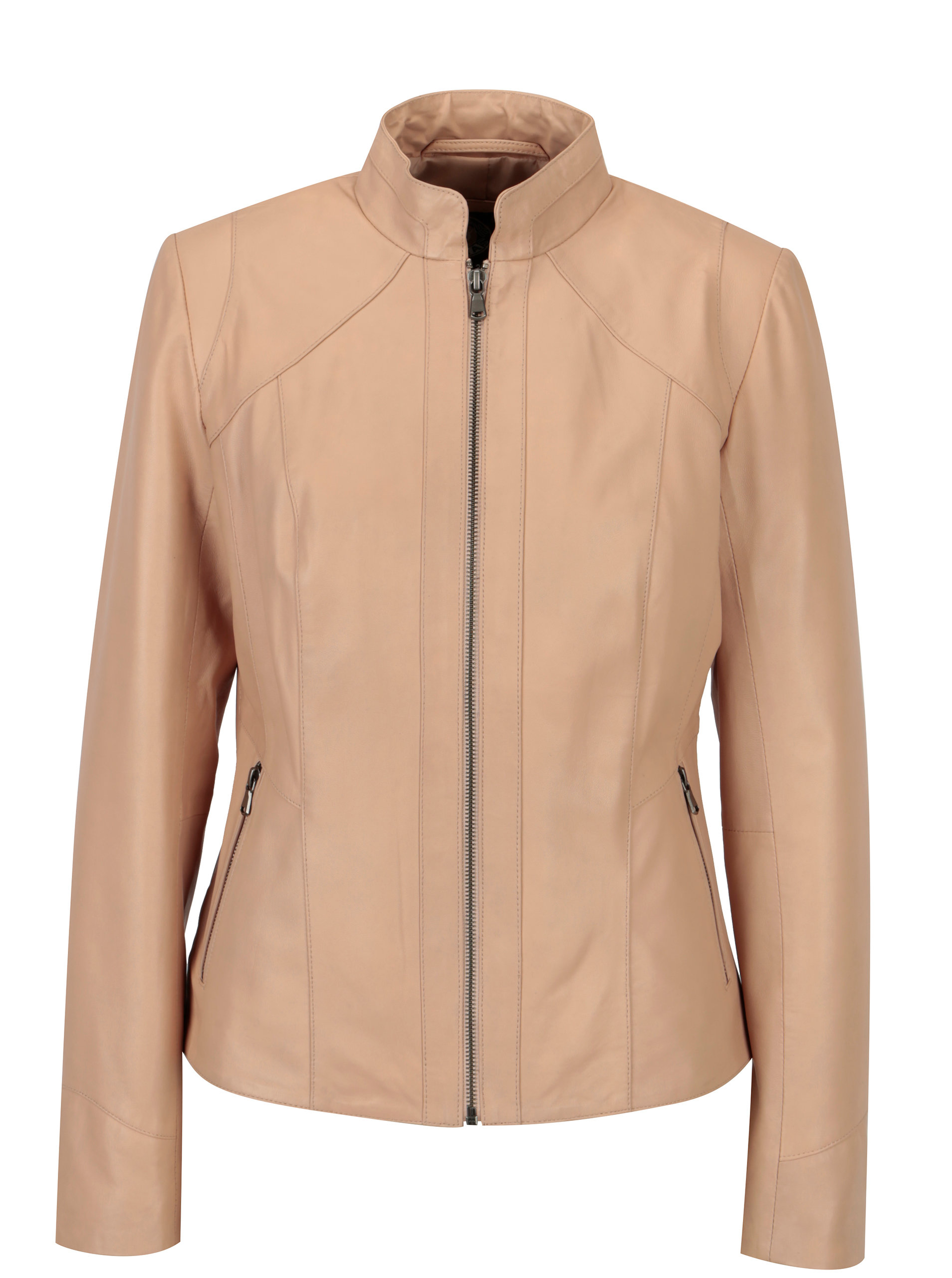 Světle růžová dámská kožená bunda KARA Stephie ... ed8df554b2a