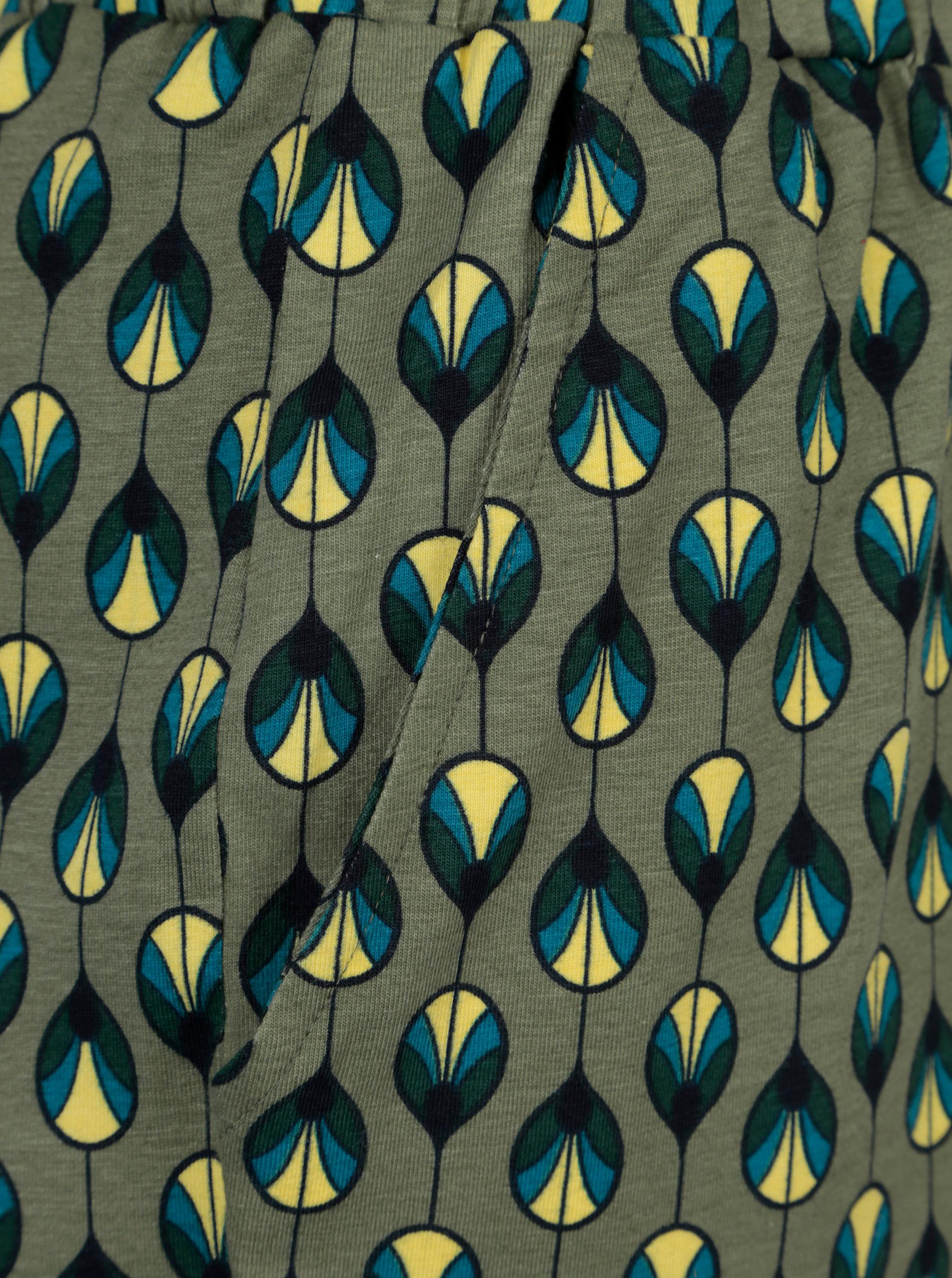 Khaki vzorované tepláky Tranquillo Hebe - SLEVA!  332a94678b