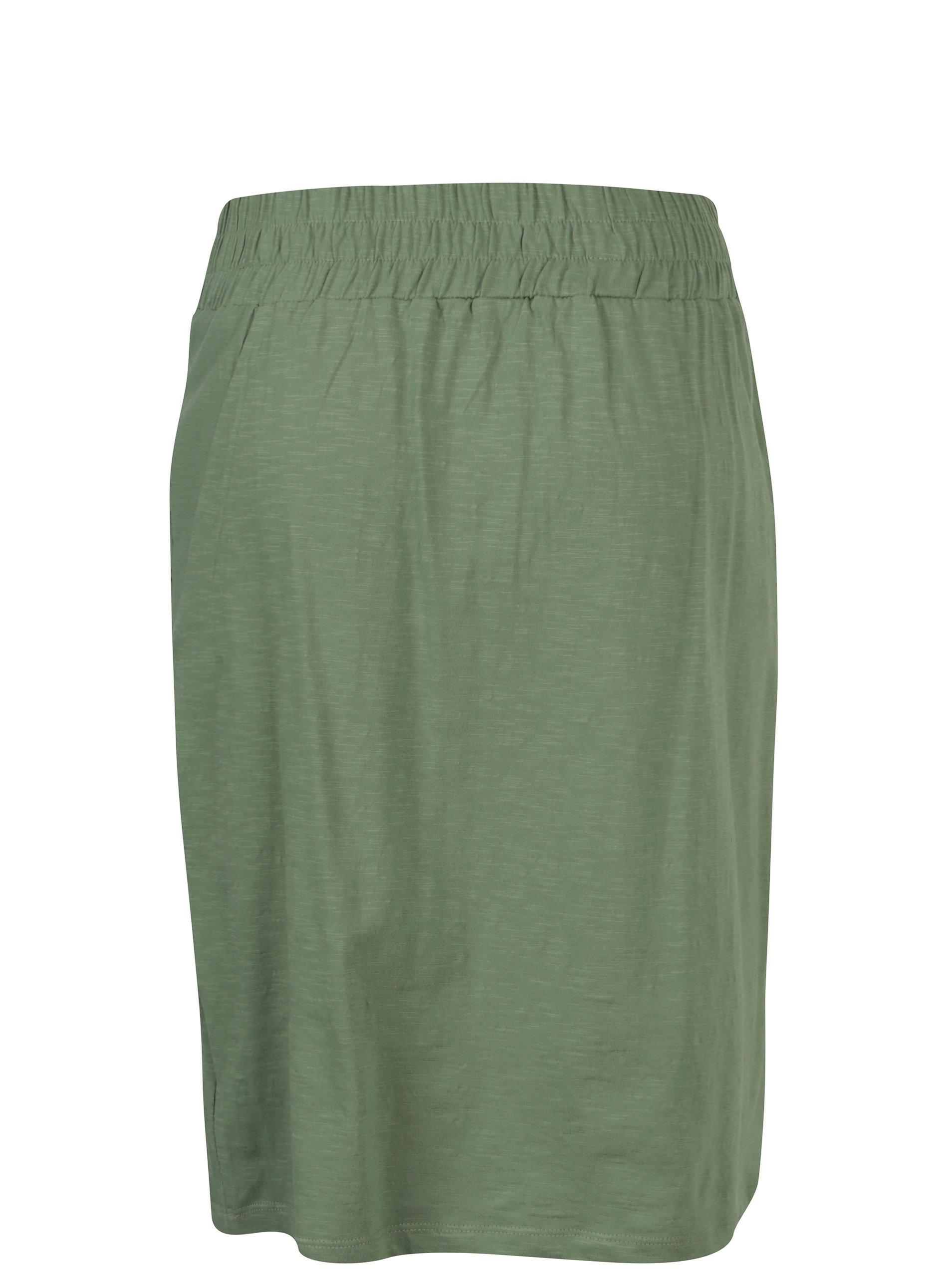 Zelená tepláková sukně s kapsami Tranquillo Leora - SLEVA ... 0cbd61304e