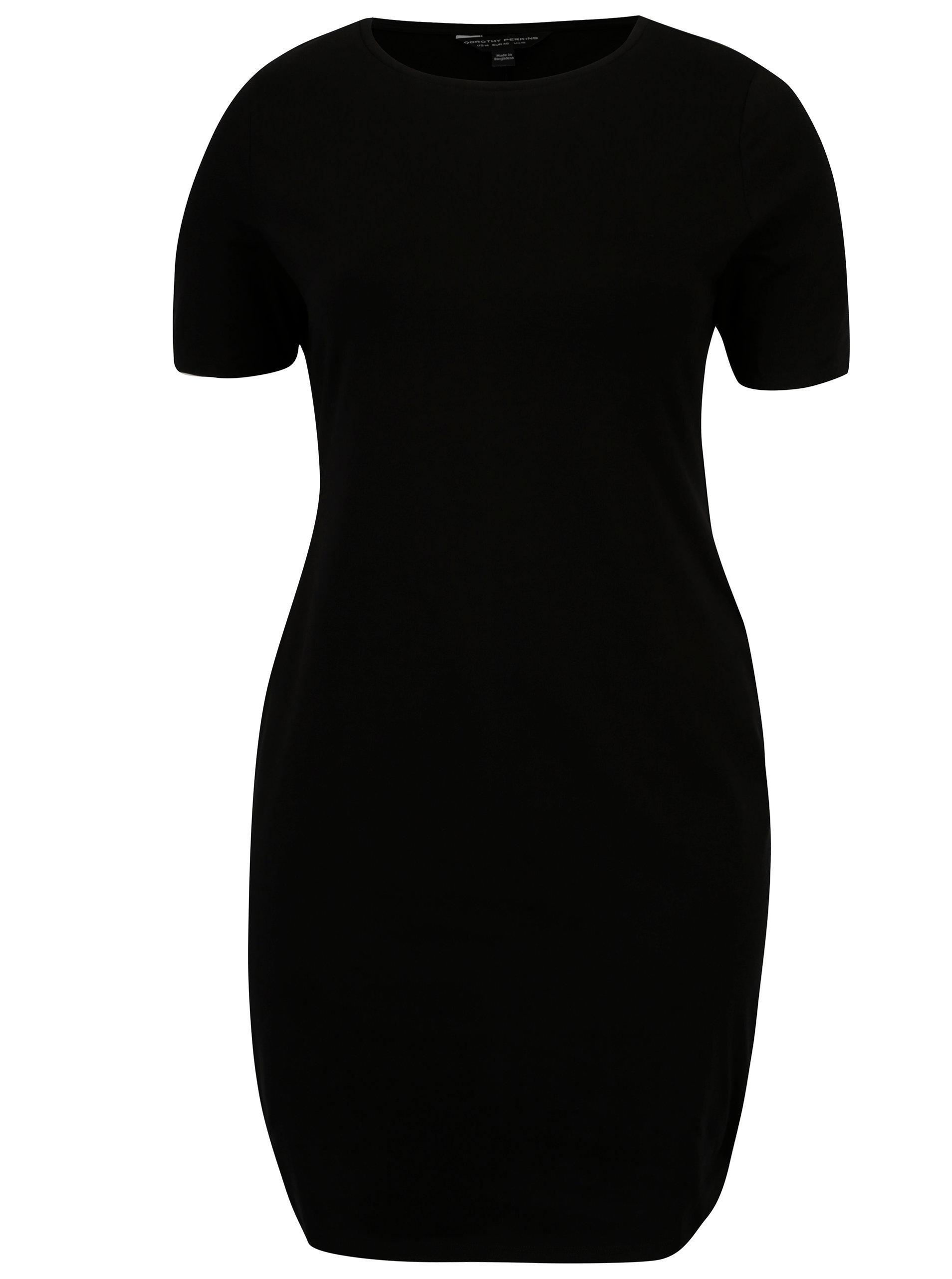 Černé pouzdrové šaty s krátkým rukávem Dorothy Perkins ... 44111b7511