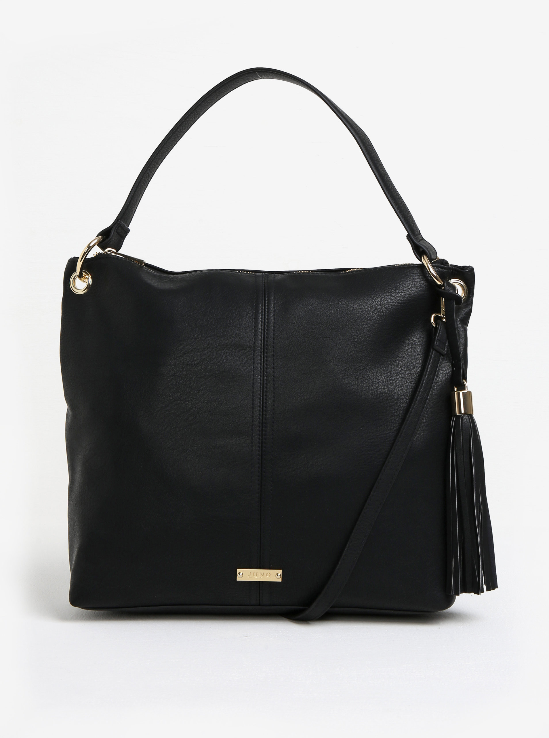 d432601343 Čierna koženková kabelka Juno ...